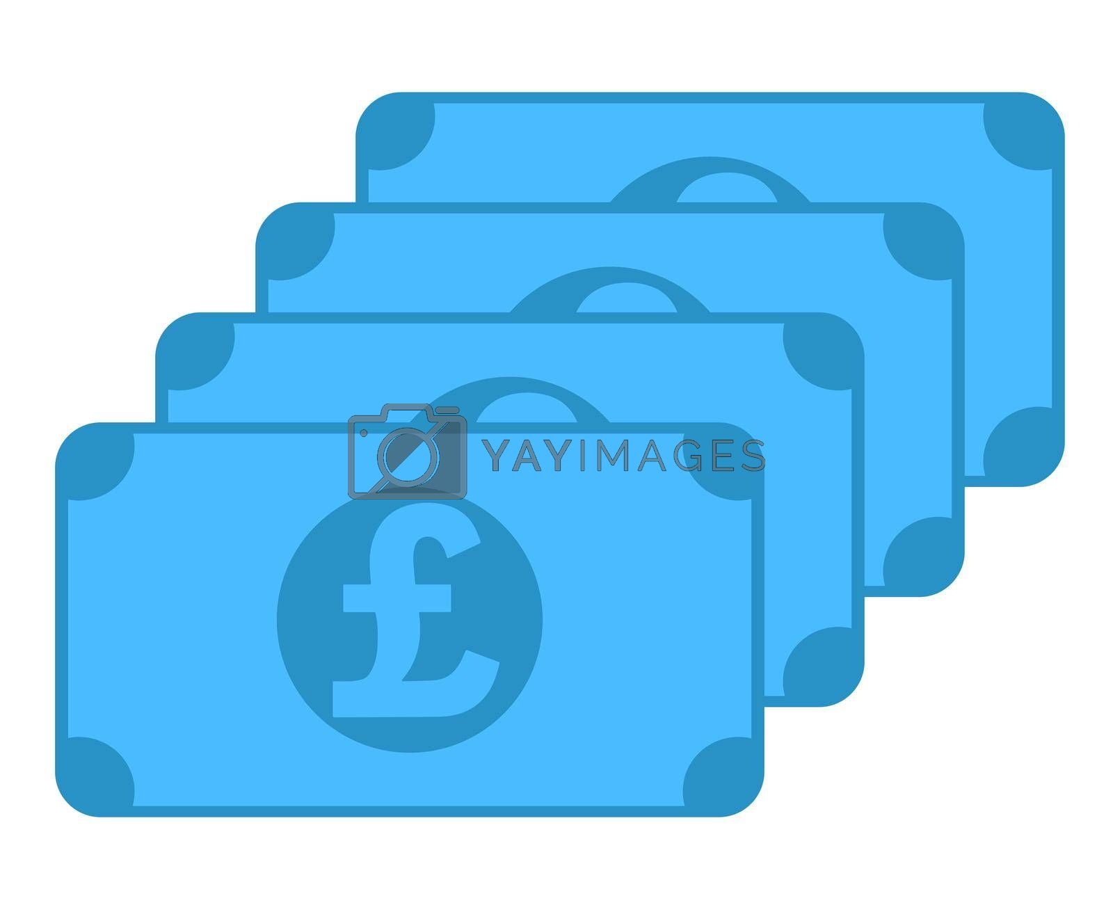 GBP banknote icon, symbol design, colored collection for web and mobile