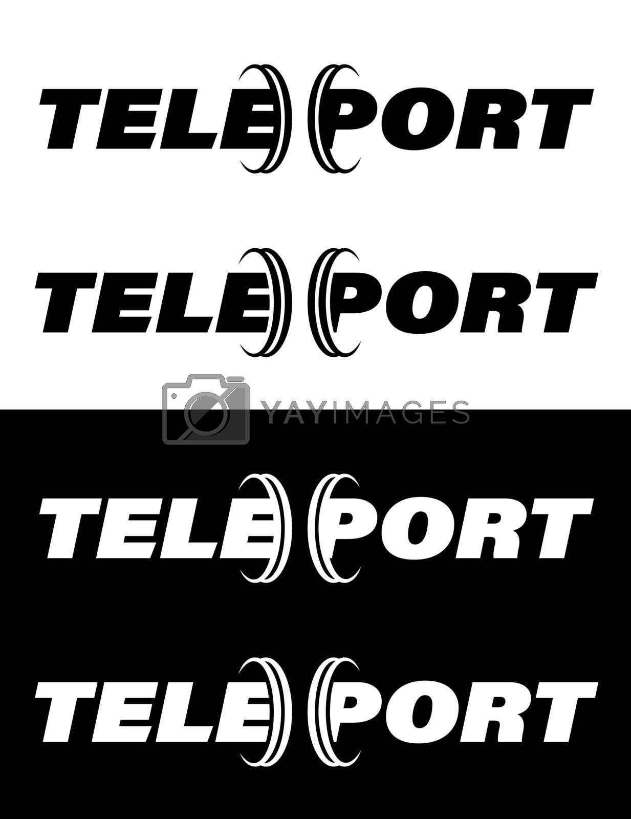 original teleport logo, isolated vector on white background by RNko