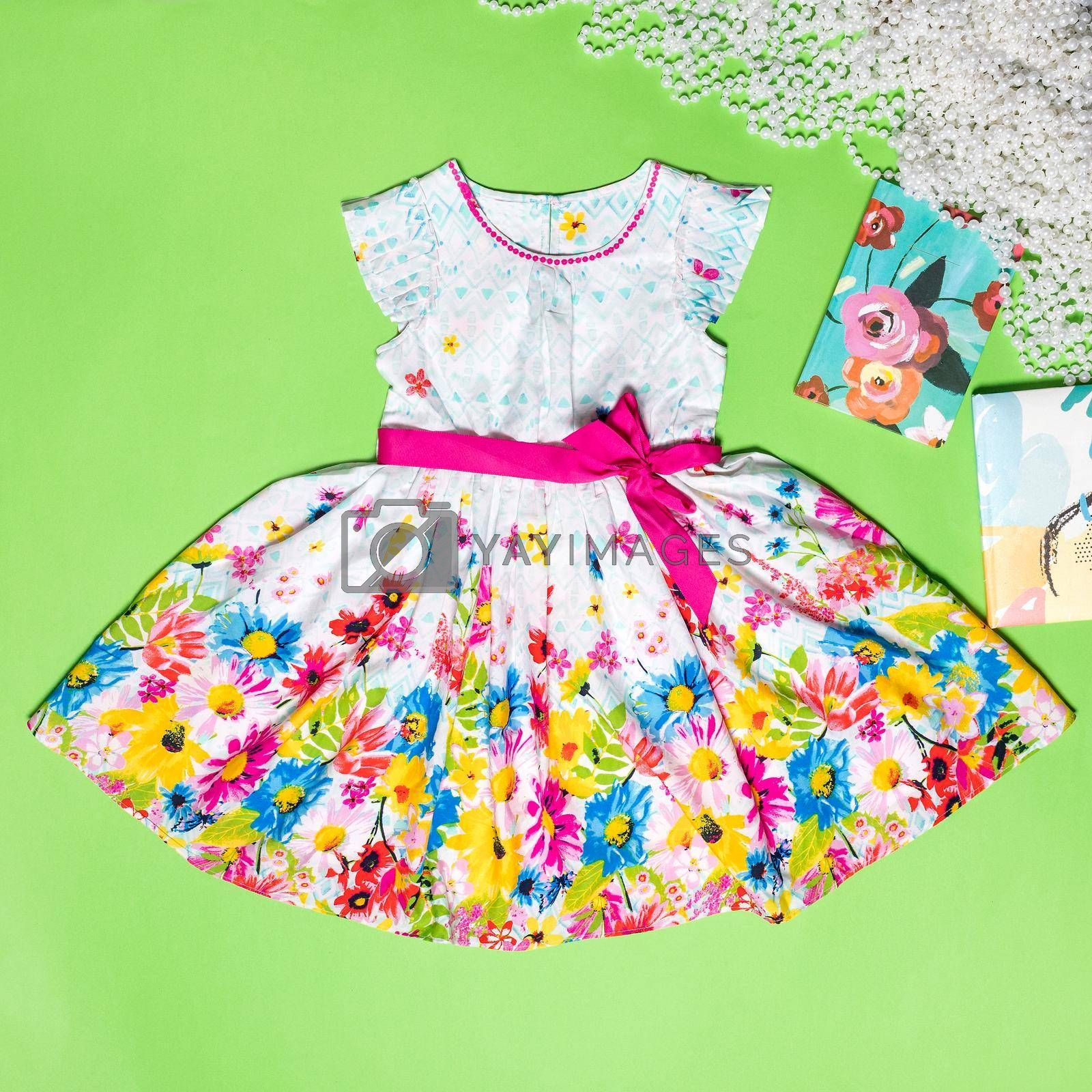 Summer Baby Girls Lace Layers Plaid Dress, Kids Princess Birthday Dresses Clothes top view