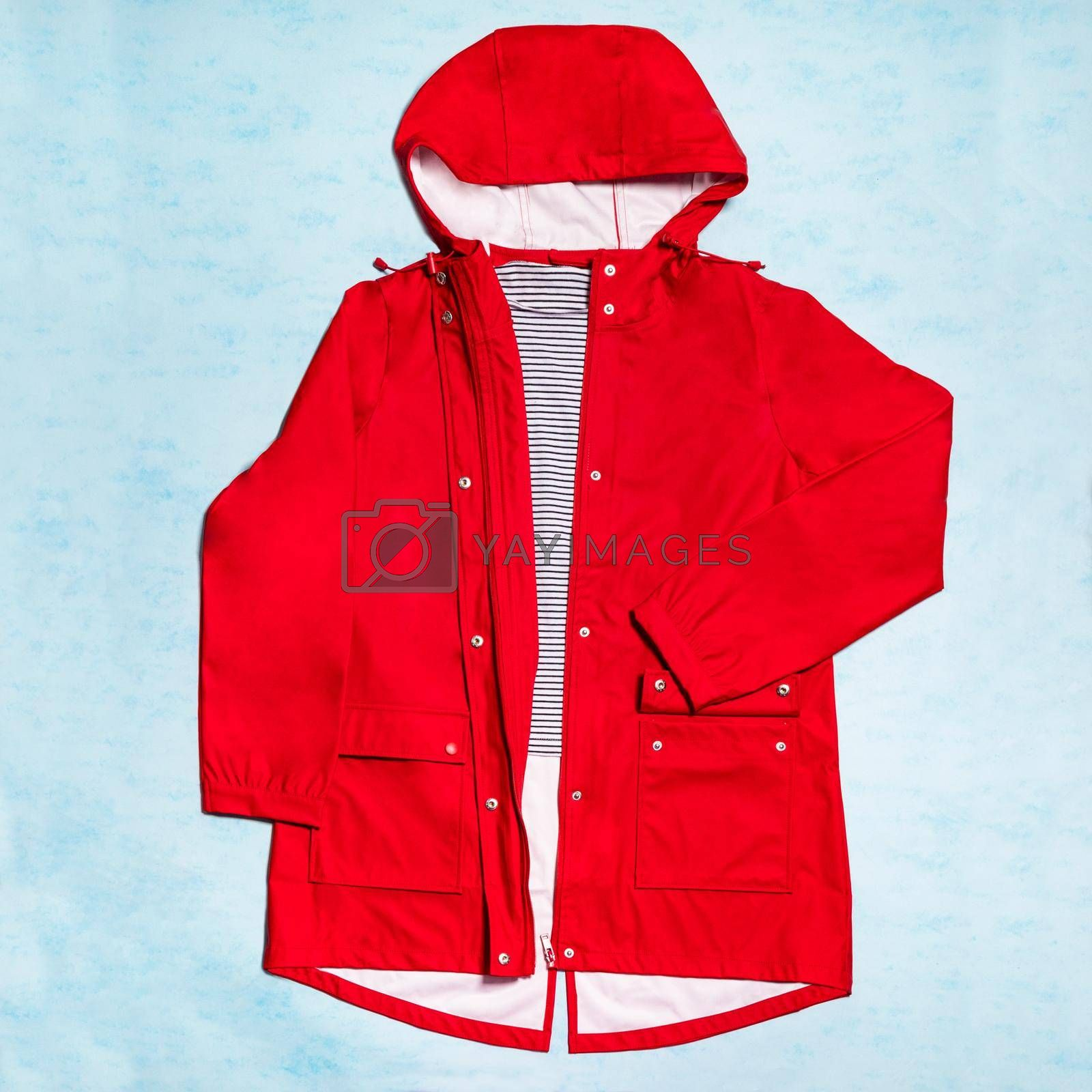 Red hood sweatshirt mock up isolated top view