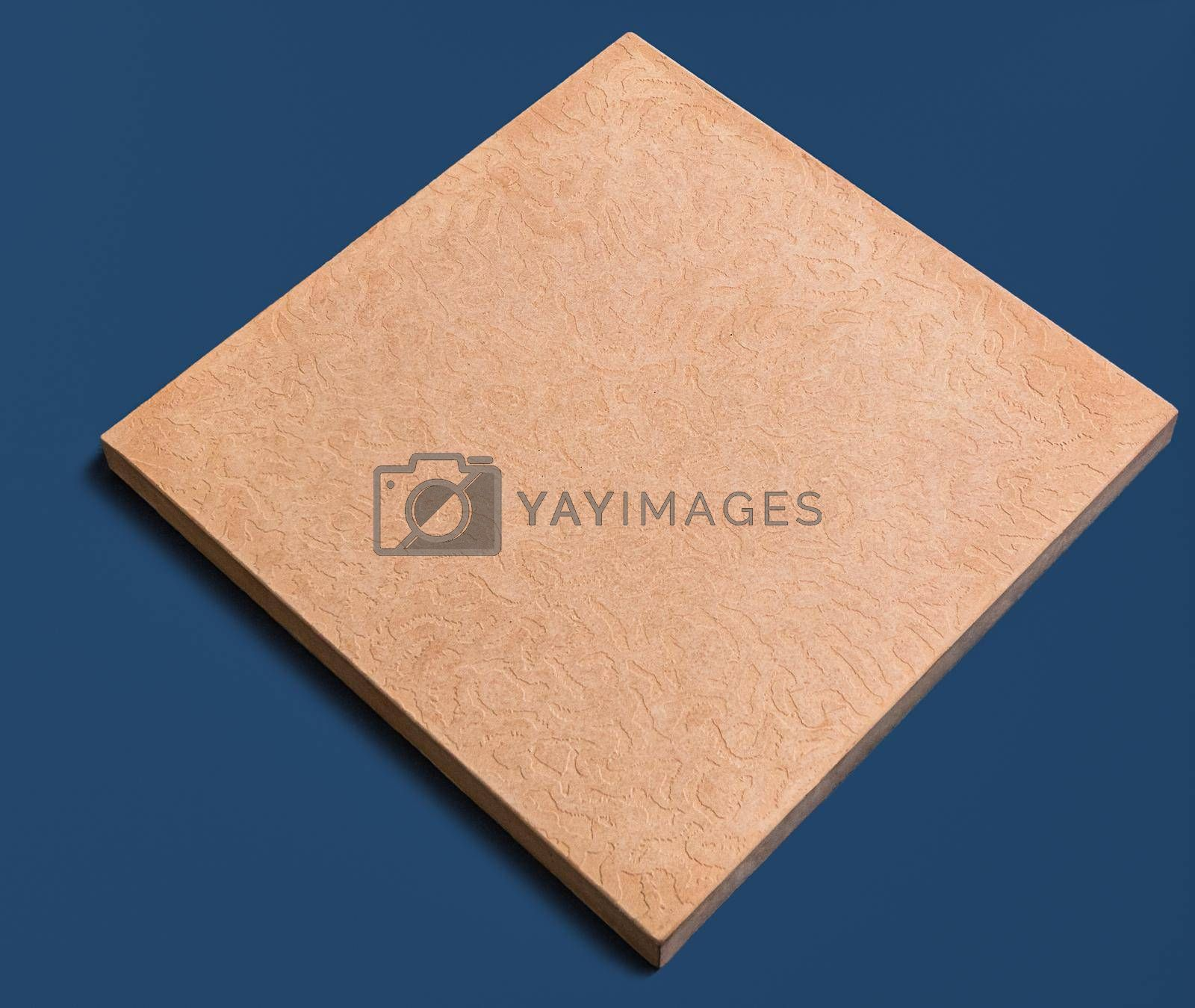 A sample of ground, wall stone shape on the unicolour background