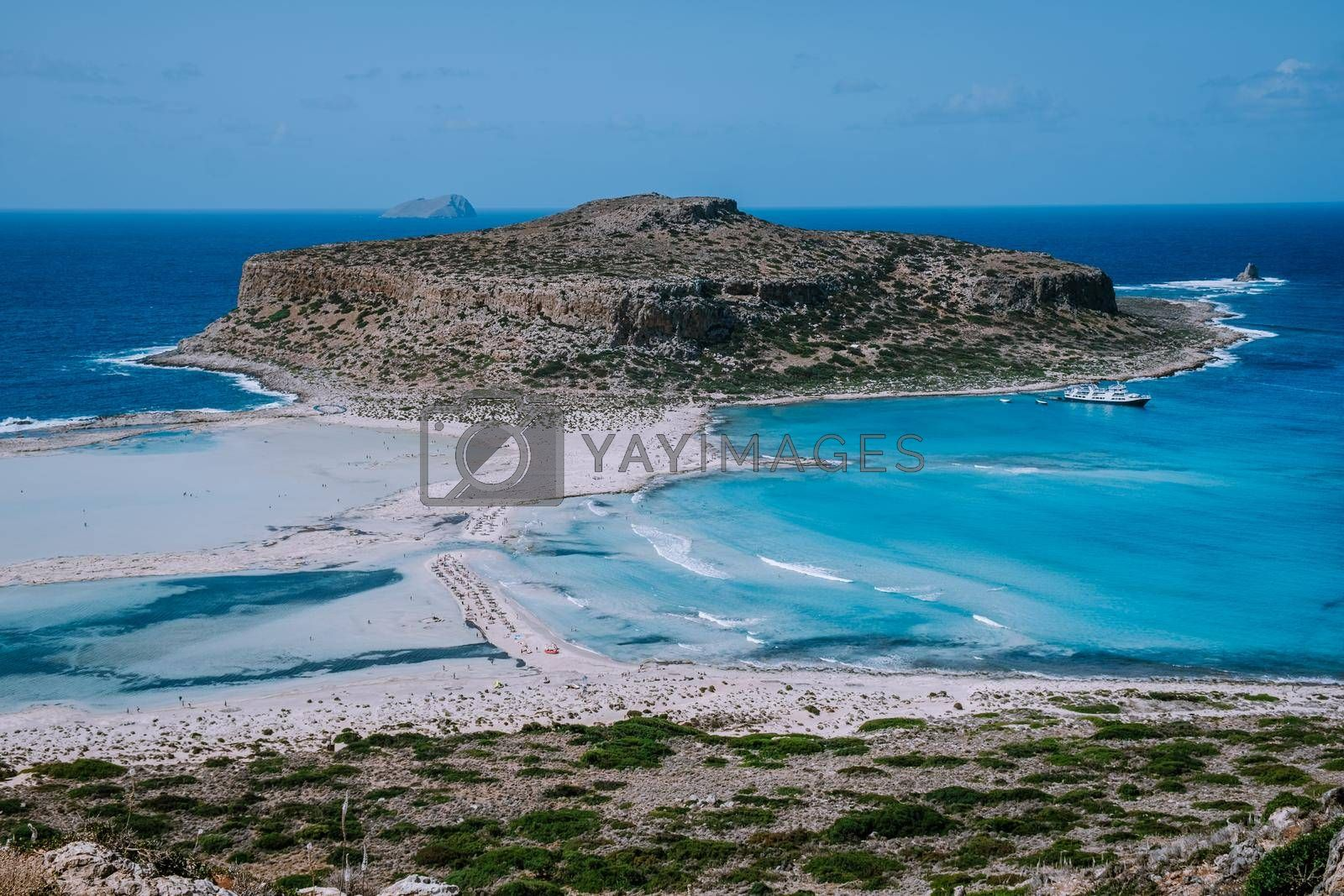 Balos Beach Cret Greece, Balos beach is on of the most beautiful beaches in Greece at the Greek Island Europe