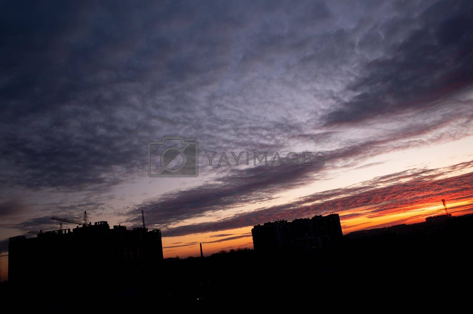 Royalty free image of Beautiful sky after sunset. by Jannetta
