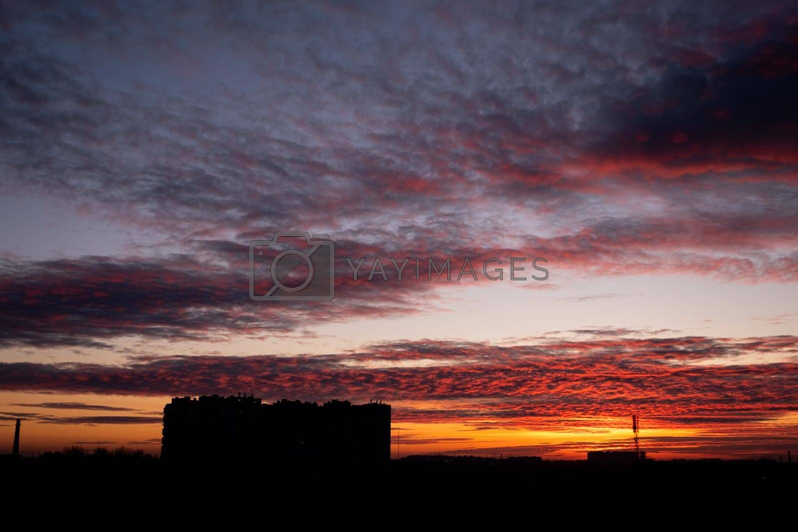 Royalty free image of Sunset over the city. by Jannetta