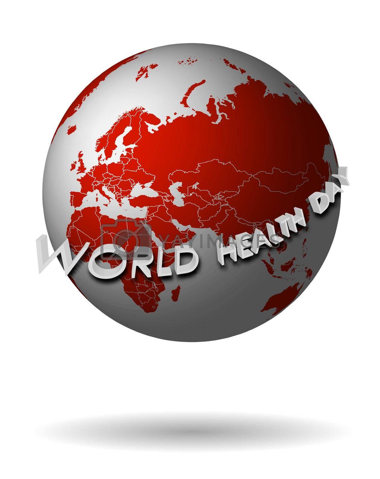 World Health Day logo, banner design template. Vector illustration on transparent background