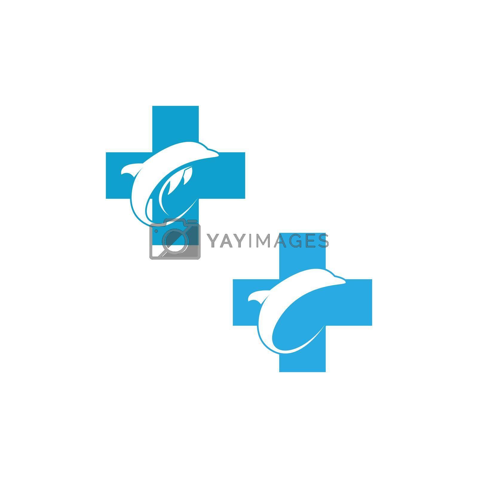 Dolphin logo icon design concept vector template illustration