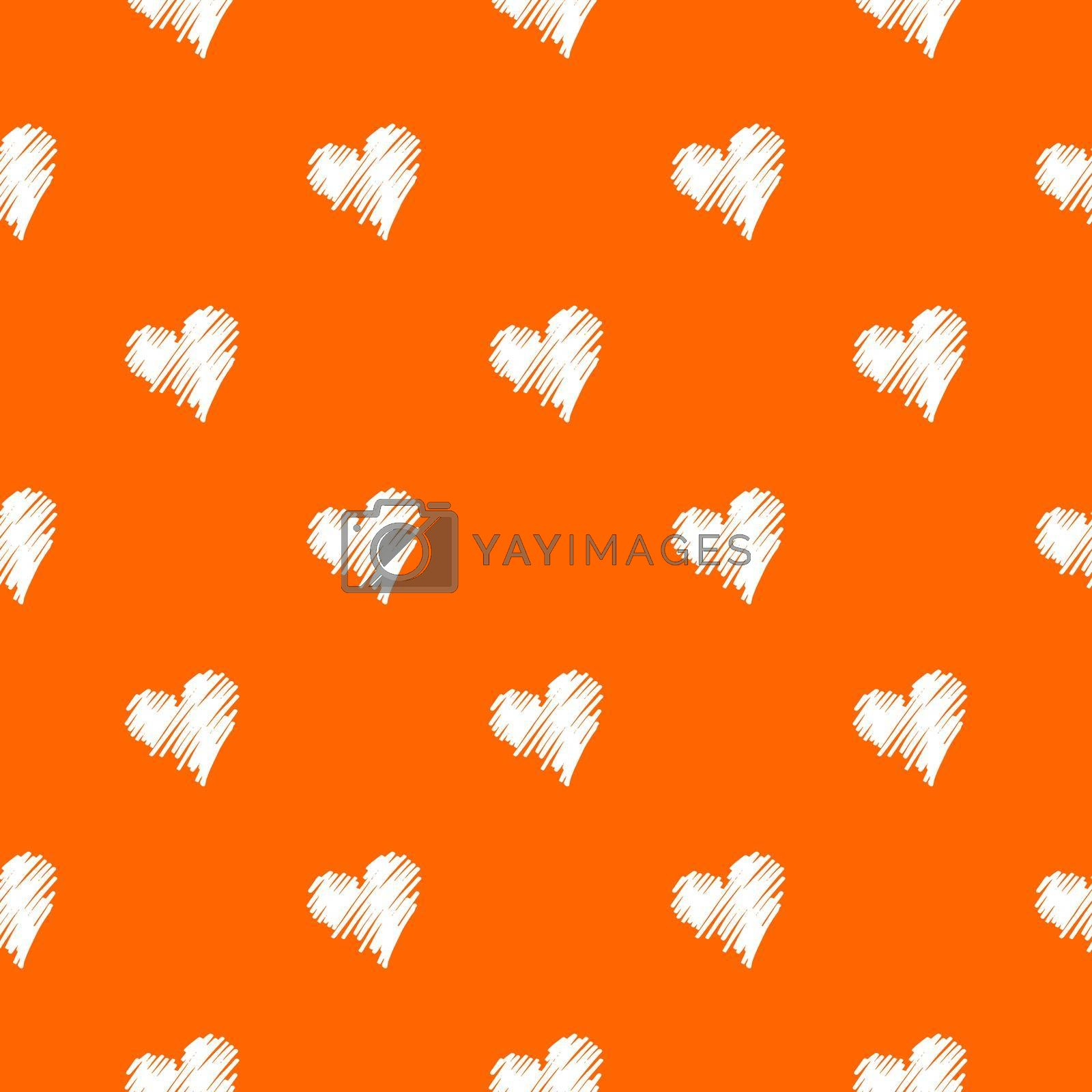 Semless heart shape pattern with colorful background