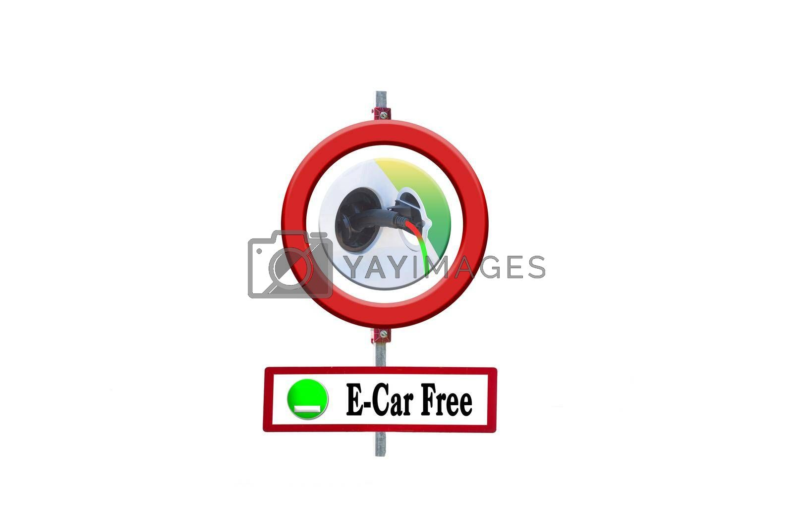 Royalty free image of Street signs diesel driving ban and e-car free         by JFsPic