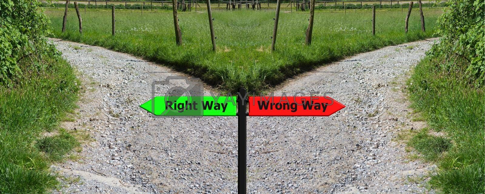 Royalty free image of Right and wrong concep by JFsPic
