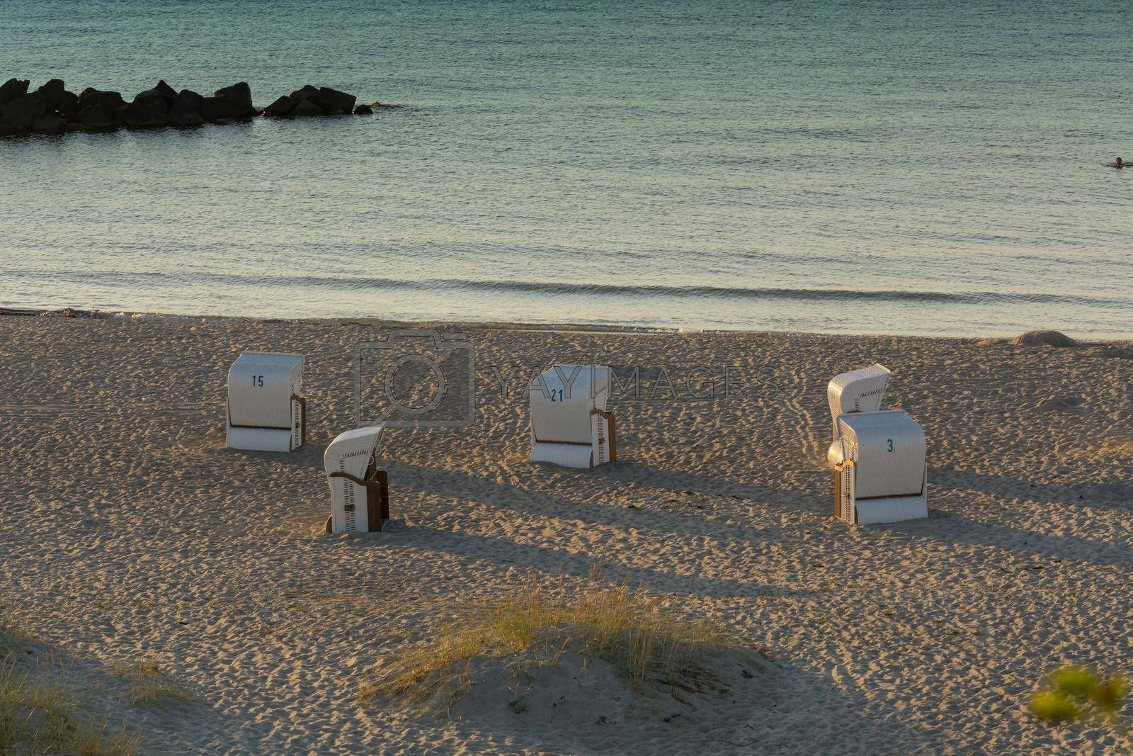 Royalty free image of Beach chair on the Baltic Sea coast.            by JFsPic