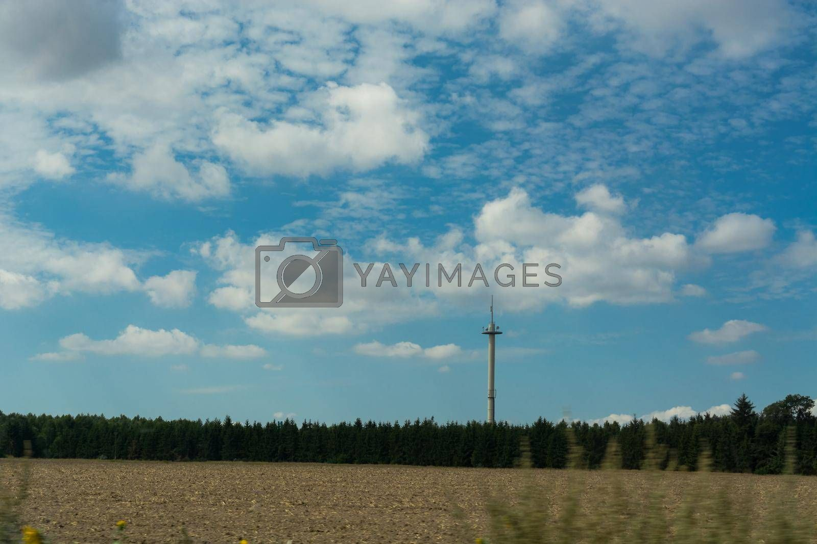 Royalty free image of GSM transceiver tower in the country    by JFsPic