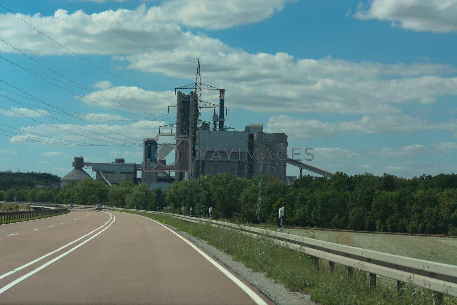 Royalty free image of The road to the nuclear power plant by JFsPic