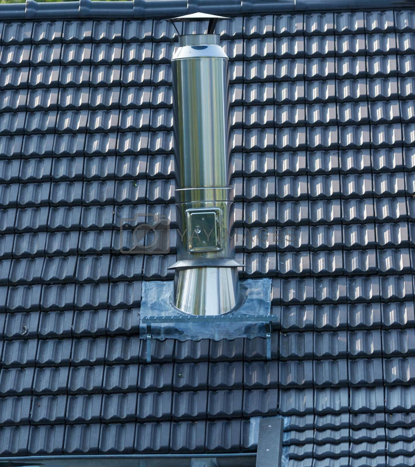 Royalty free image of Chimney or stainless steel fireplace      by JFsPic