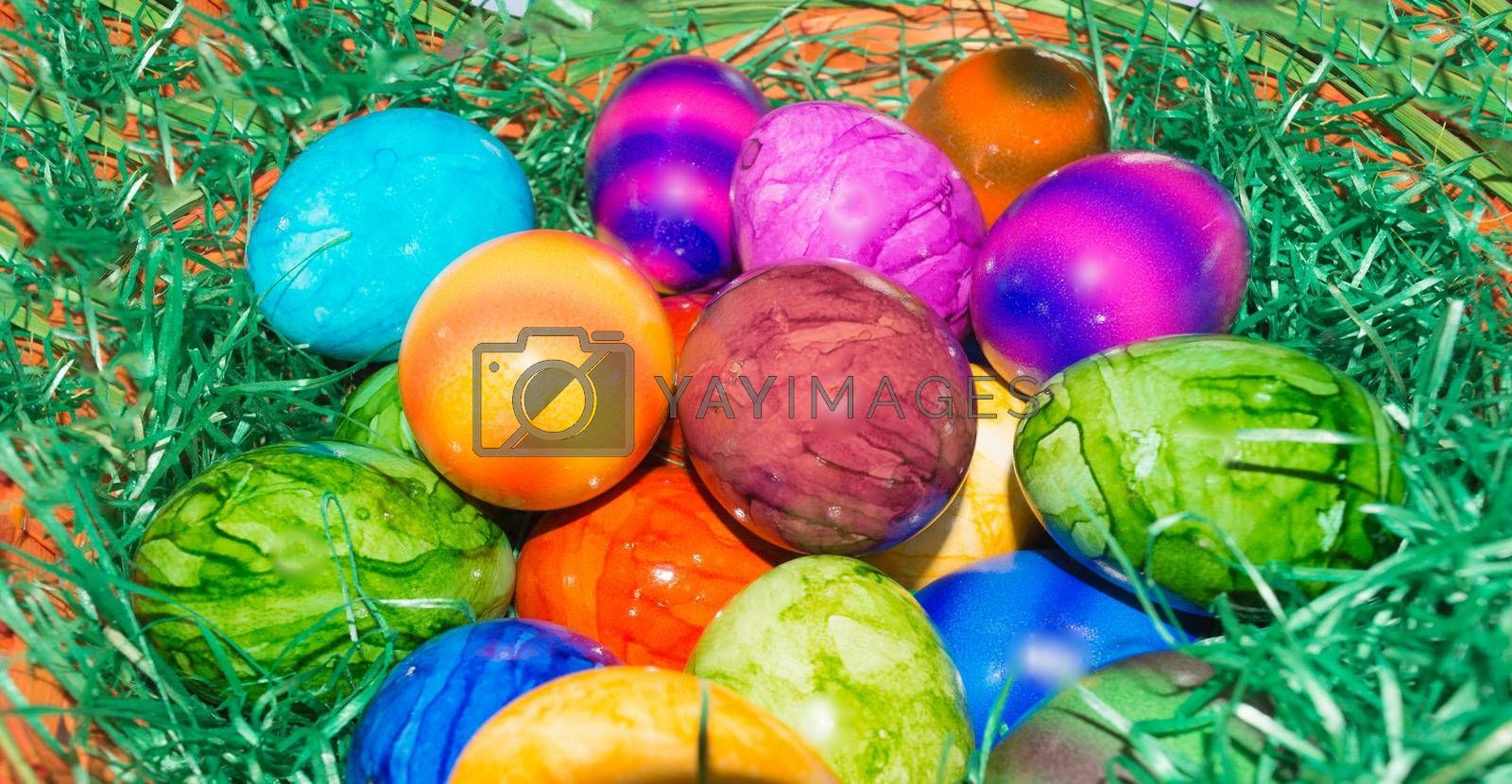 Royalty free image of Colorful Easter basket or basket      by JFsPic
