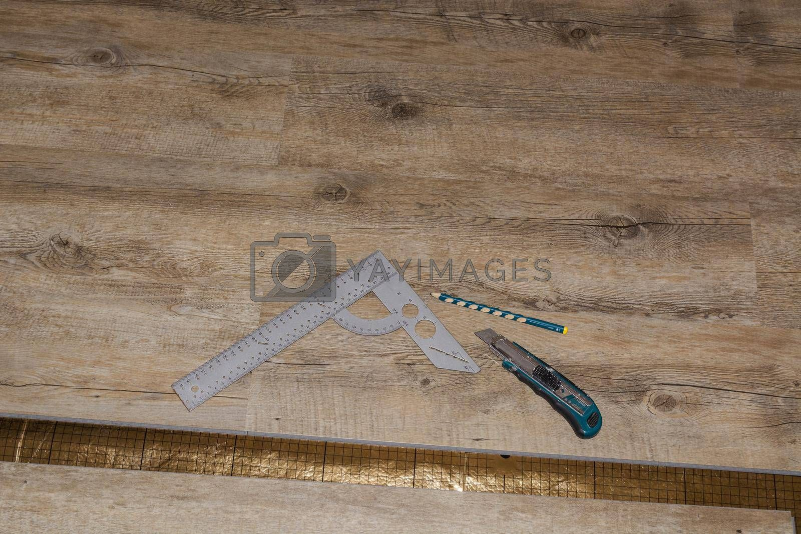 Royalty free image of Wooden floor - oak parquet synthetic laminate. by JFsPic