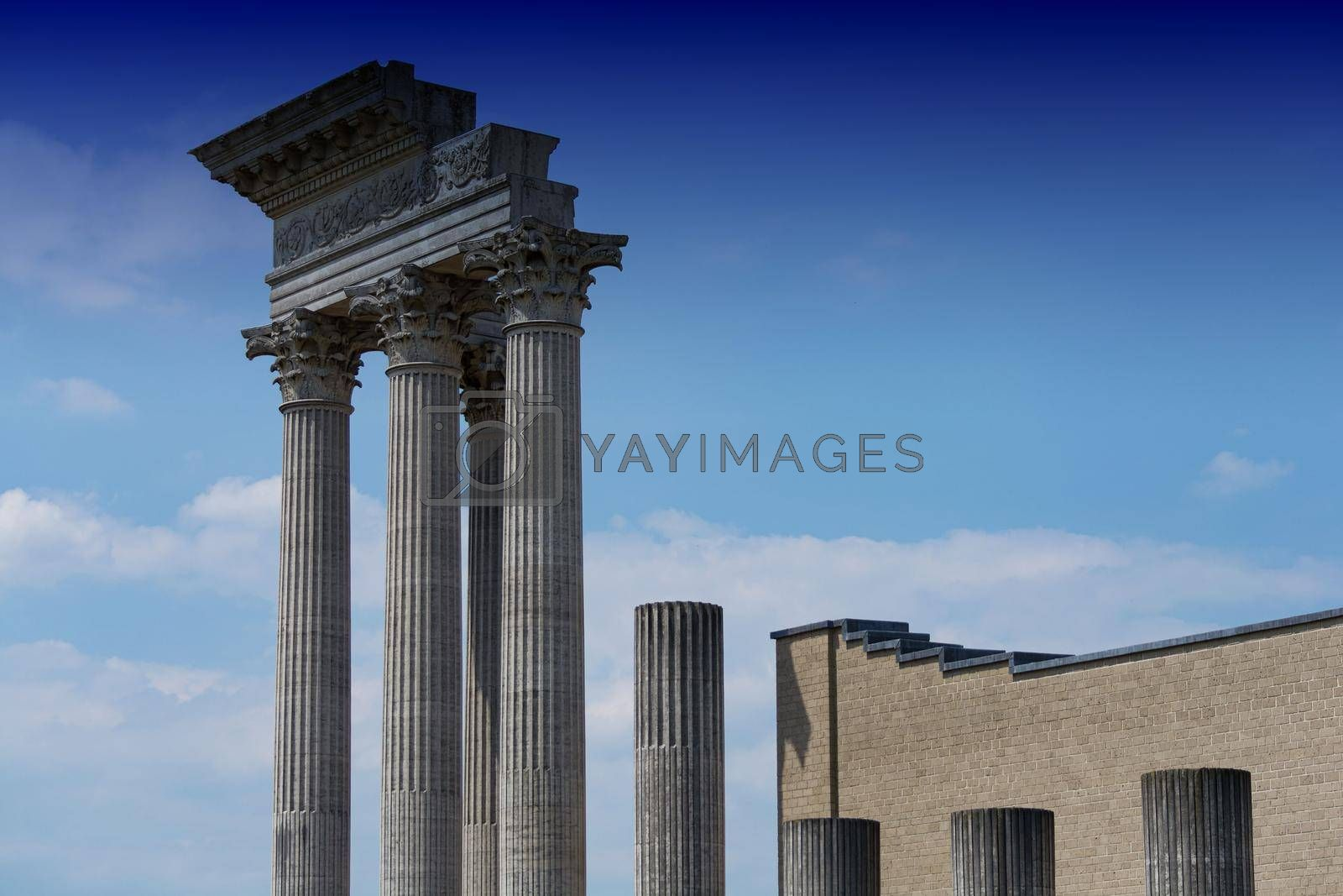 Royalty free image of Greek style pillars            by JFsPic