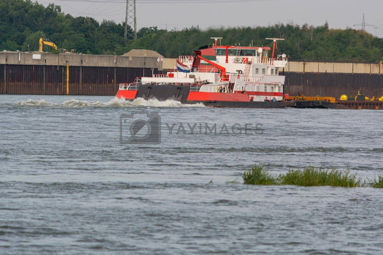 Royalty free image of Freighter. On the Kiel Canal        by JFsPic