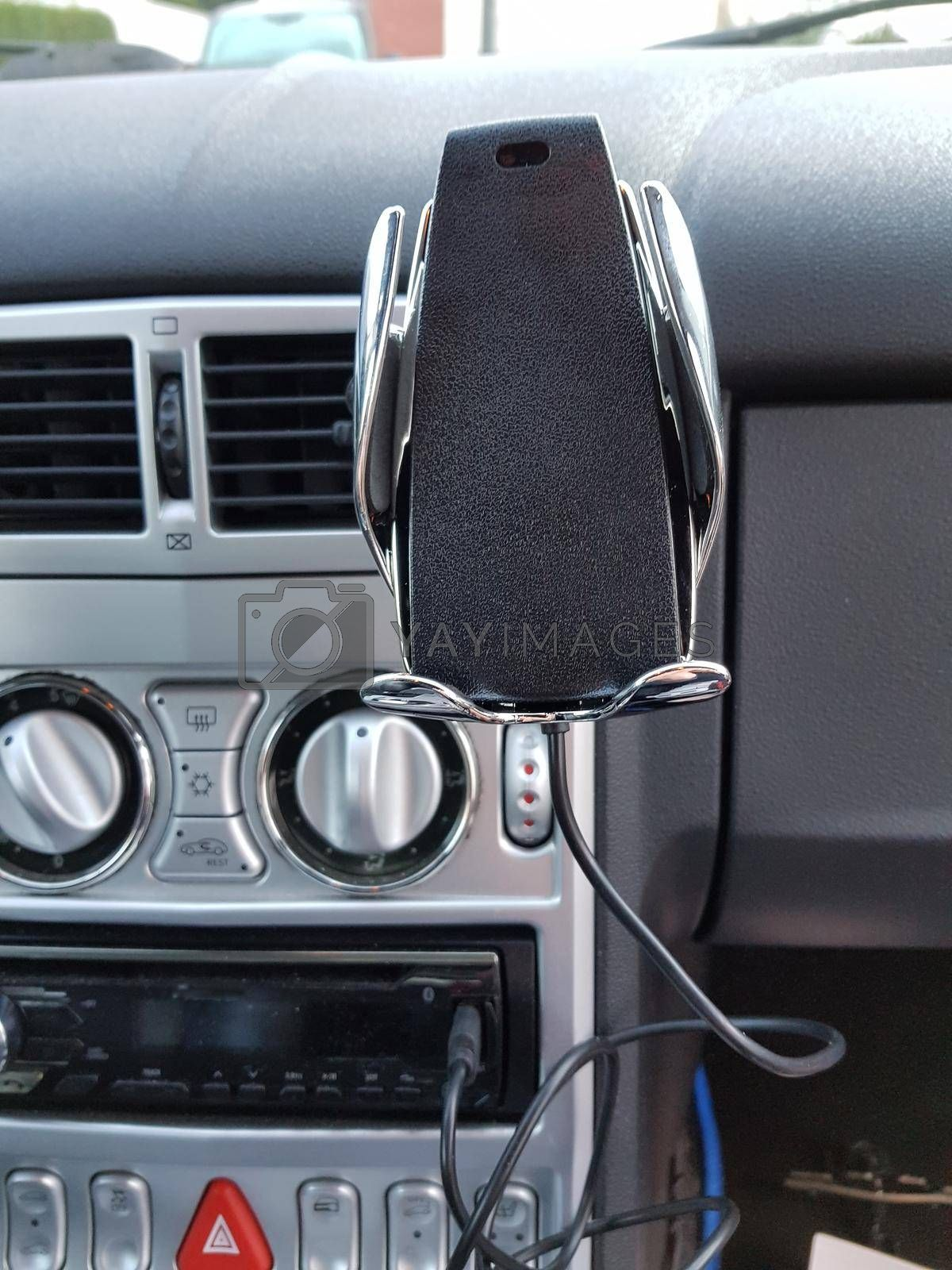 Royalty free image of Car interior with cell phone holder    by JFsPic