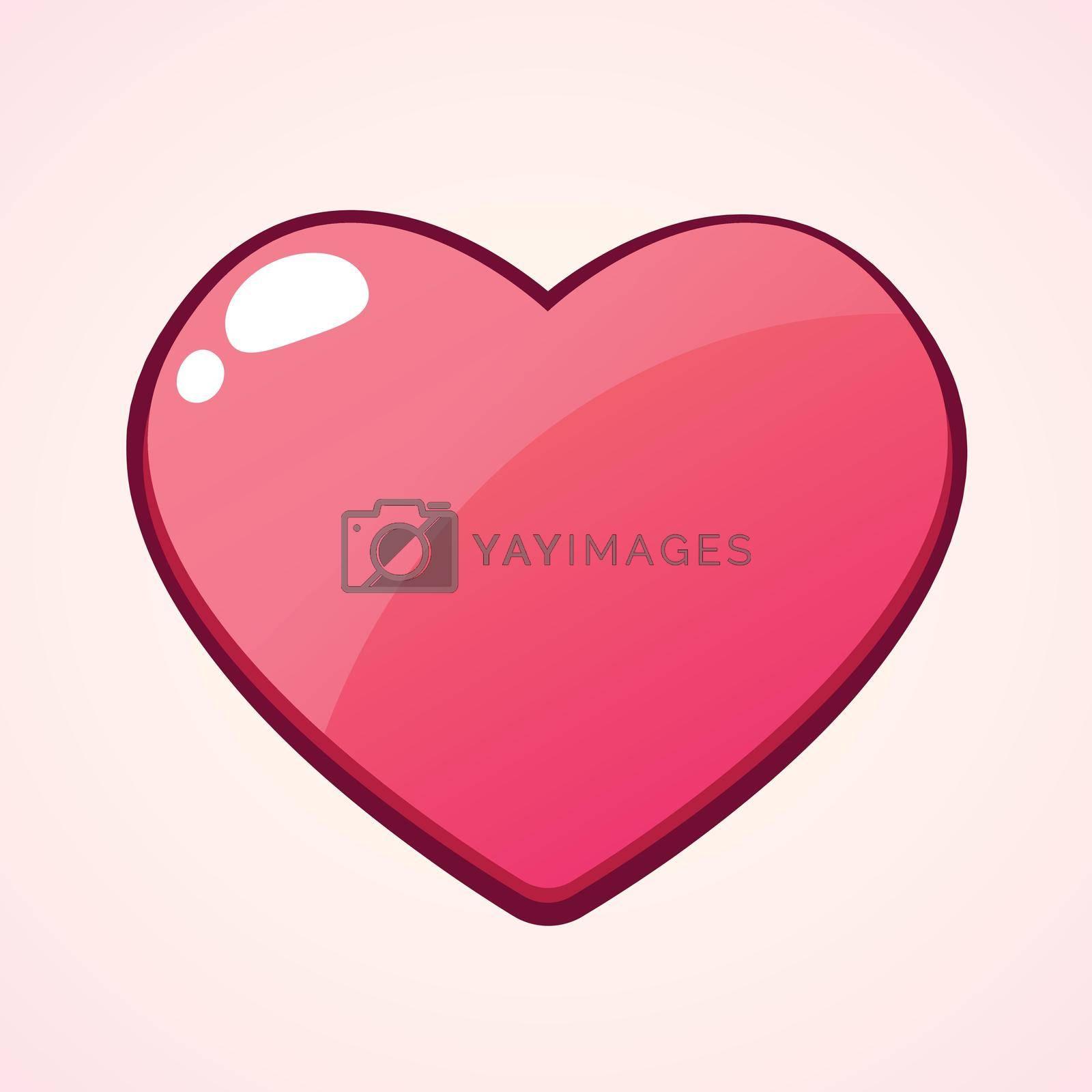 Valentines heart cartoon ,Vector Design illustration