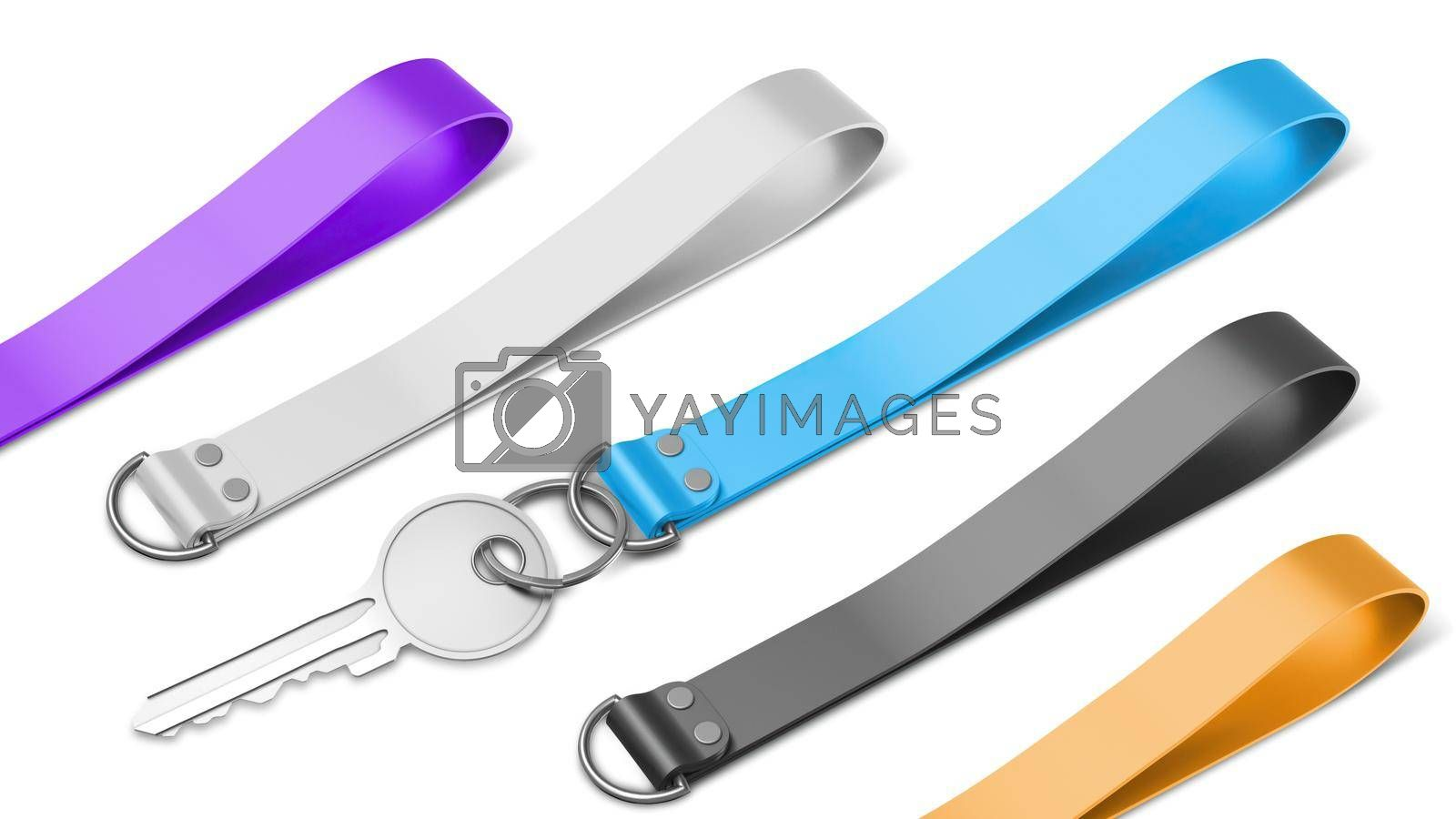 Silicone Keychain Mockup Composition View