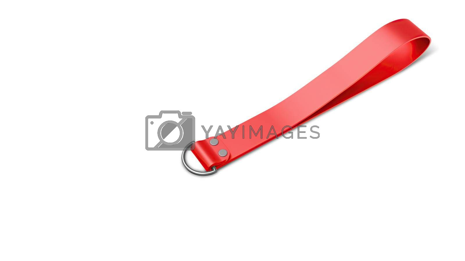 Silicone Keychain Mockup Perspective View Without Key