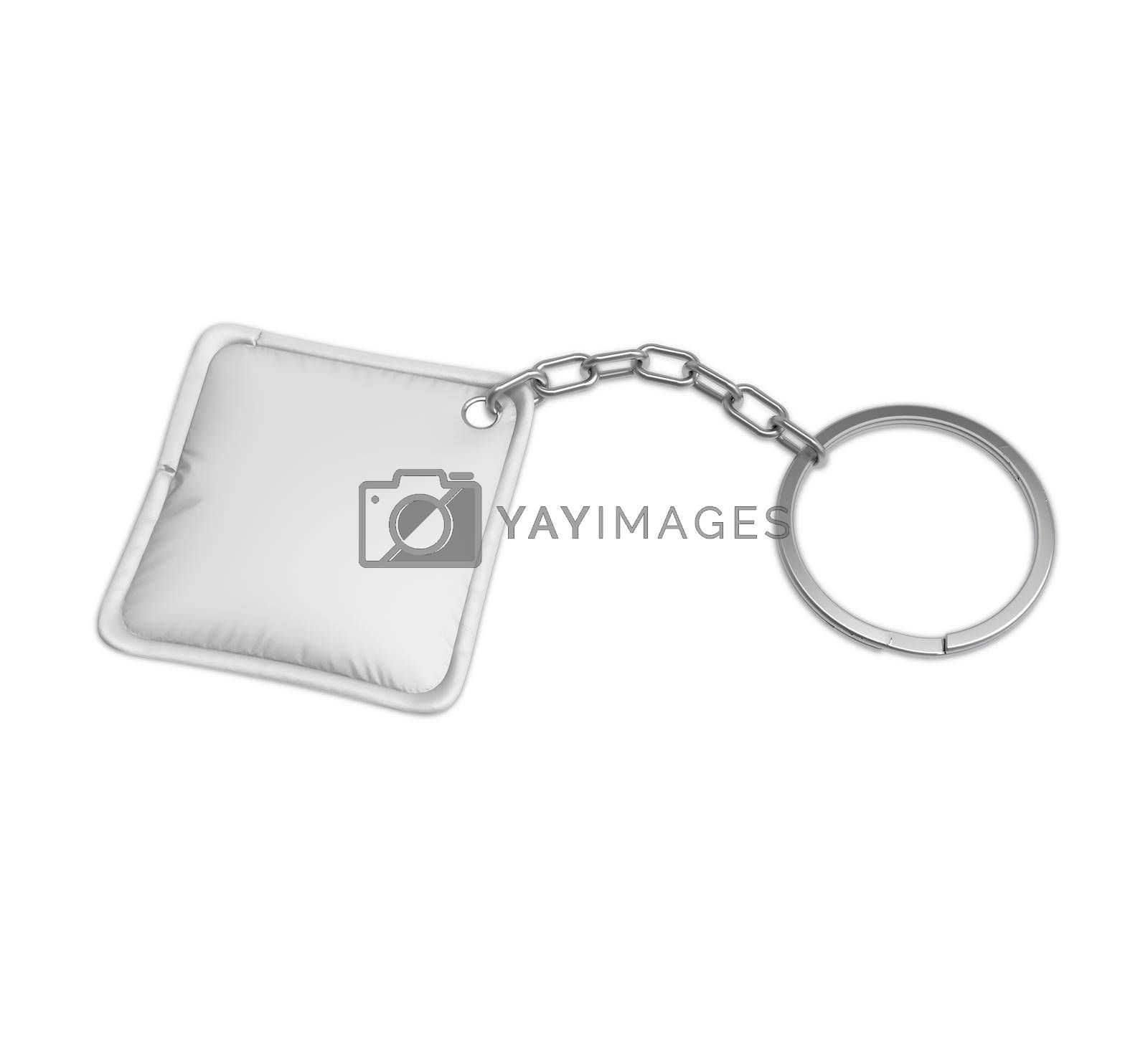 Square Promotion Pillow Keychain Mockup