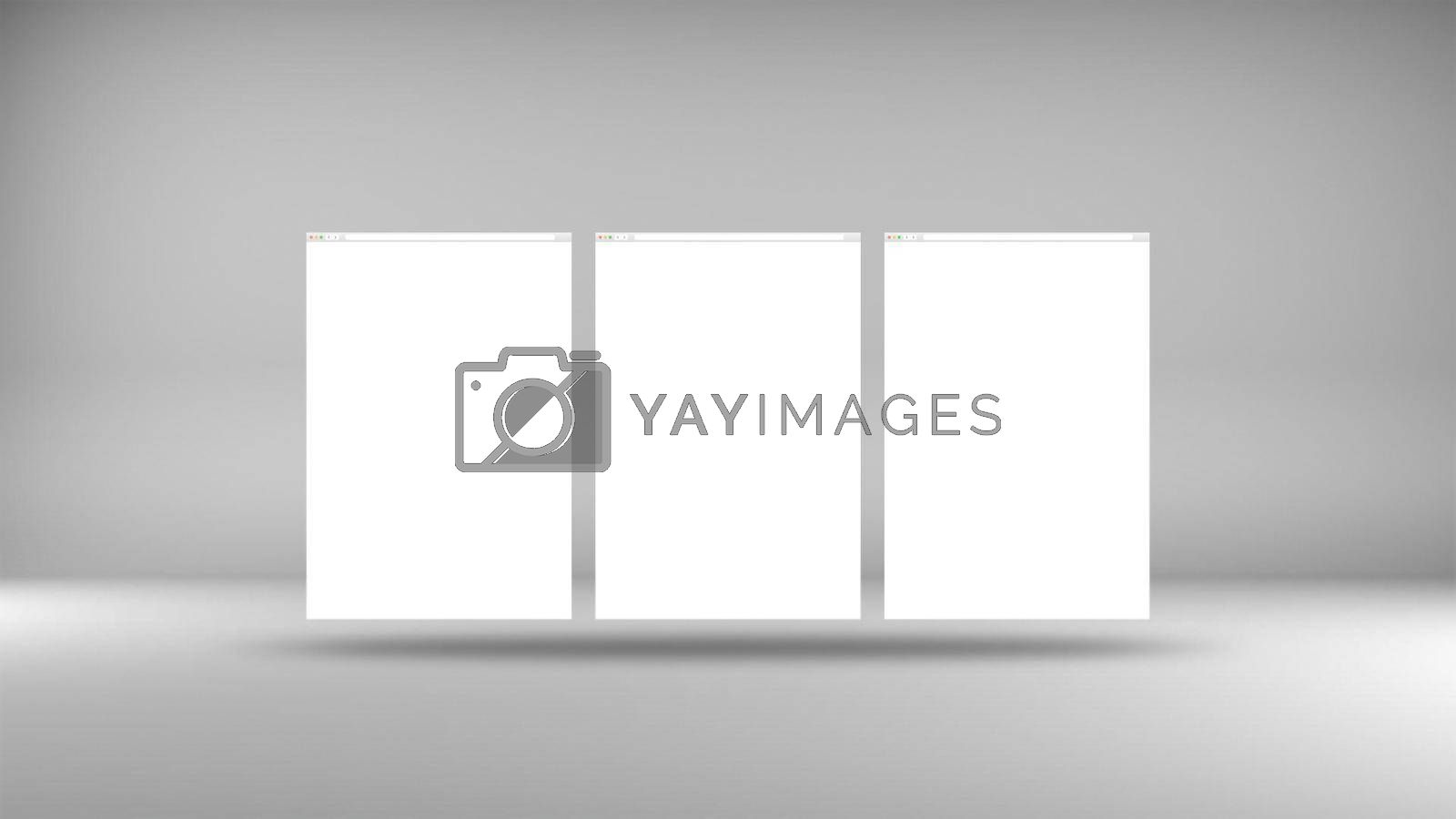 Web Browser Screens Mockup