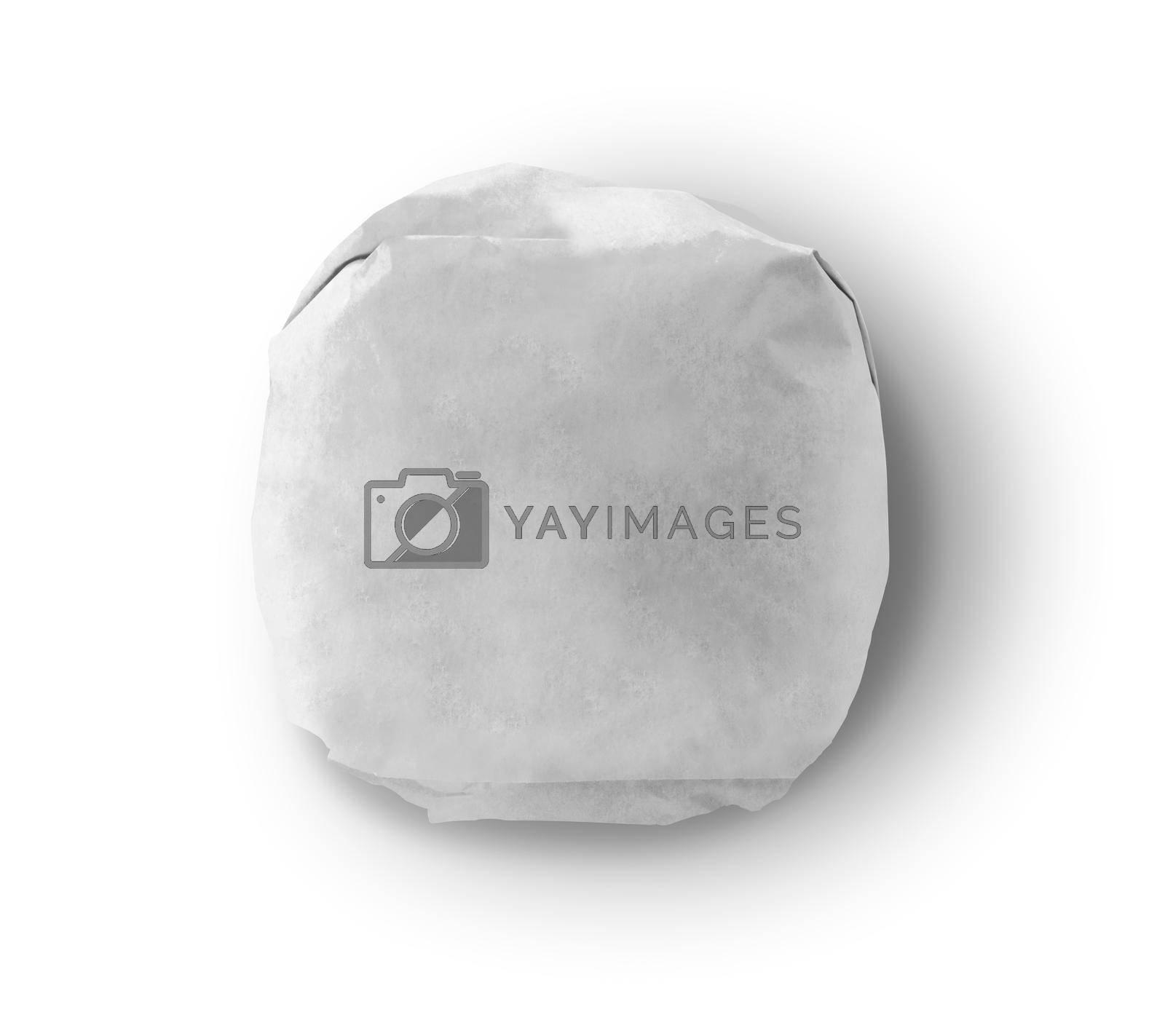 White Burger Wrap Mockup