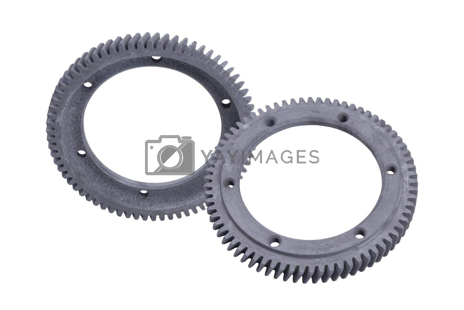 Royalty free image of The gear motor of the machine details of automobile engineering by forester