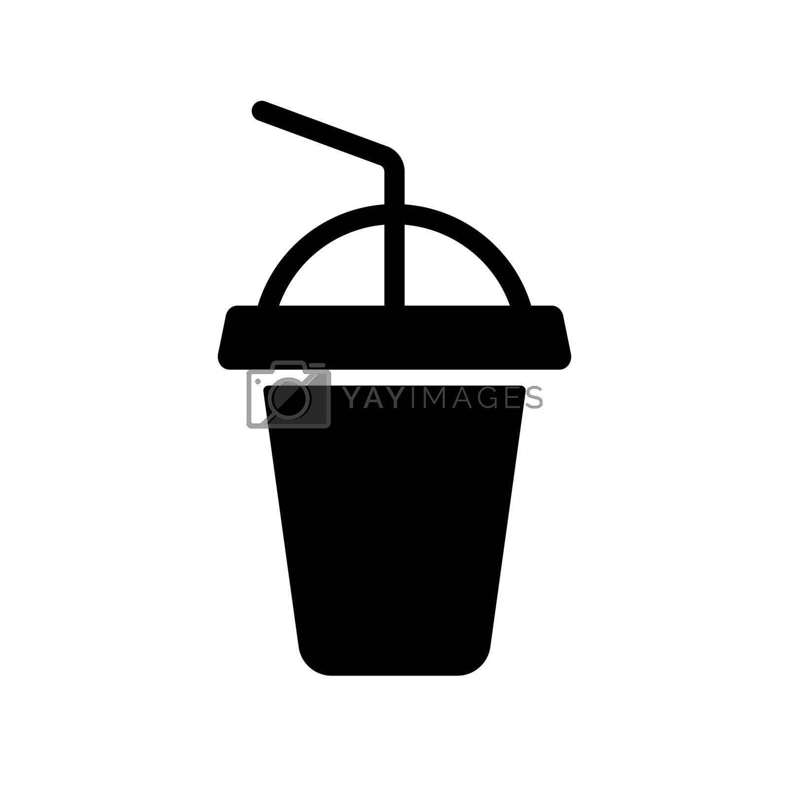 Soft drink vector glyph icon. Fast food sign. Graph symbol for cooking web site and apps design, logo, app, UI