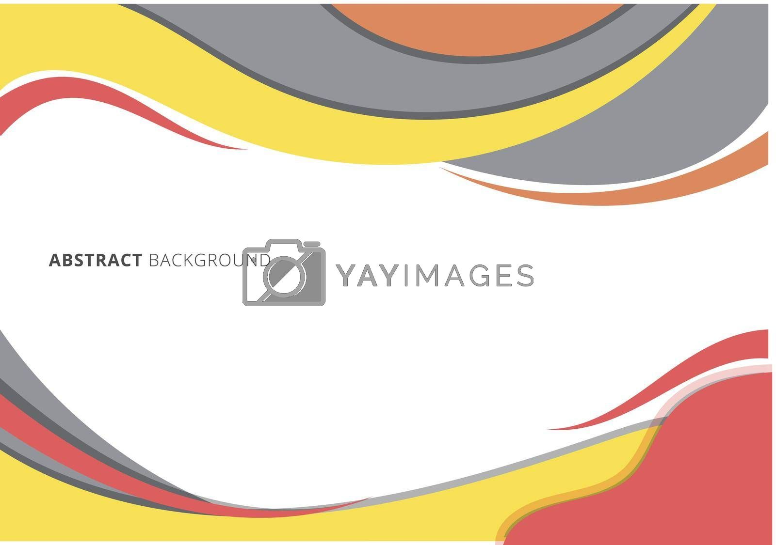 Modern graphic header template wave curved line on white background. Vector illustration