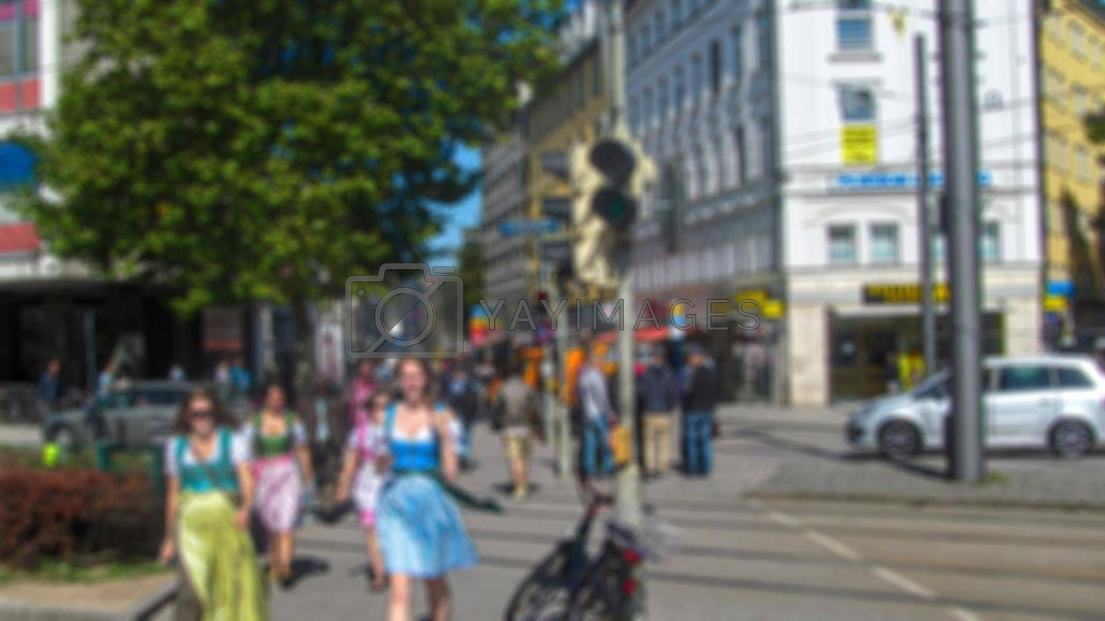 Urban landscape. Creative tourism theme with blur and bokeh for themed posters, banners and screensavers
