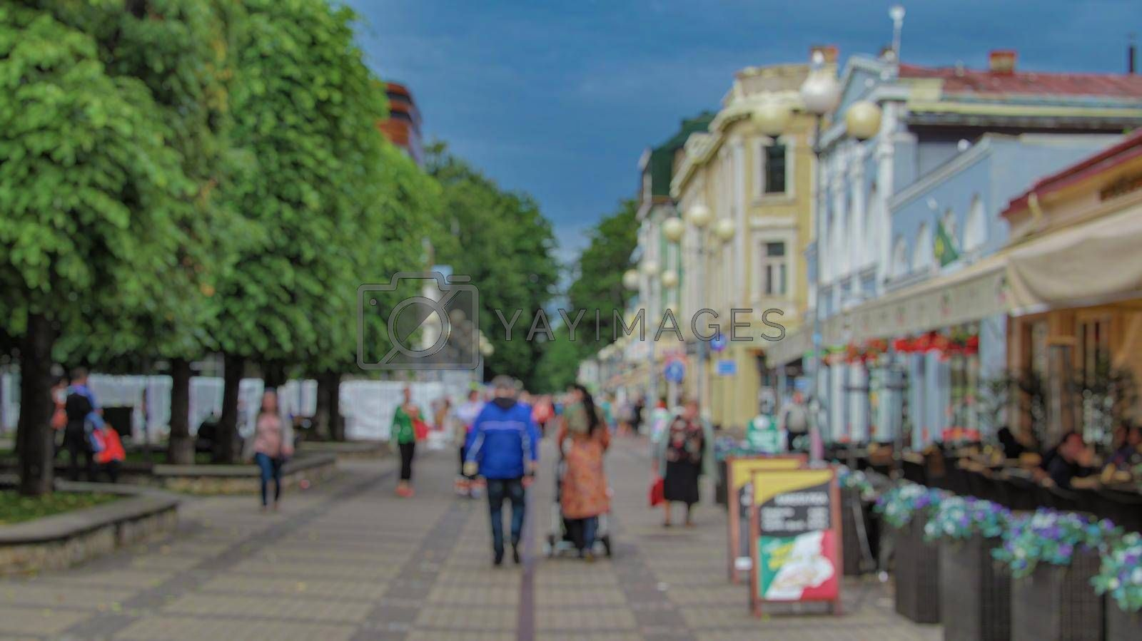 Royalty free image of Urban landscape. Creative tourism theme with blur and bokeh. by Grommik