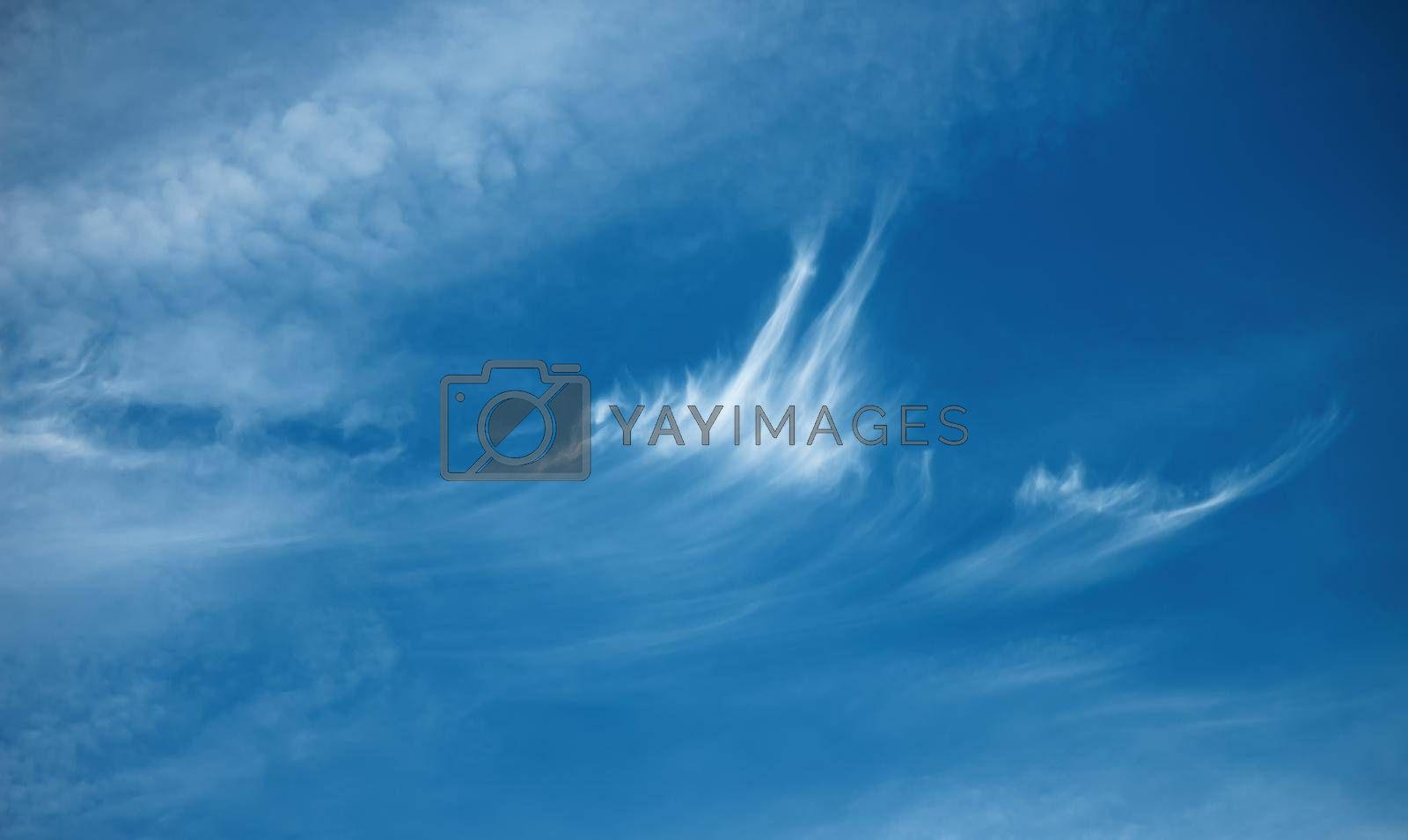 blue sky background with white clouds. Natural composition of nature. by Nickstock