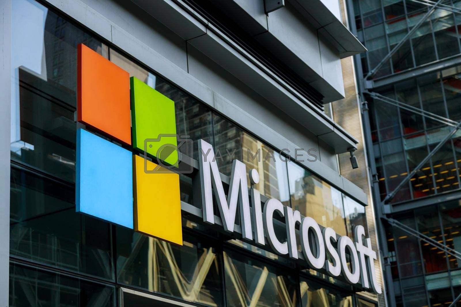22 JANUARY 21 New York US 2021: Its best known software products are the Microsoft Windows Store at Fifth Avenue on Oct 31, 2015 in New York.