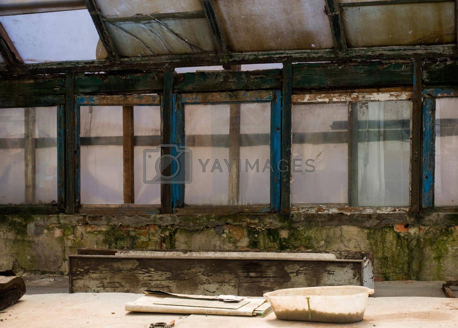Royalty free image of An old greenhouse. by Jannetta
