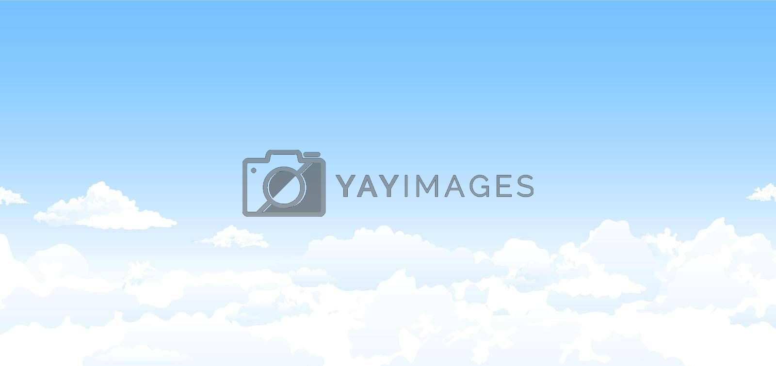 Royalty free image of Blue sky and white clouds background by liolle