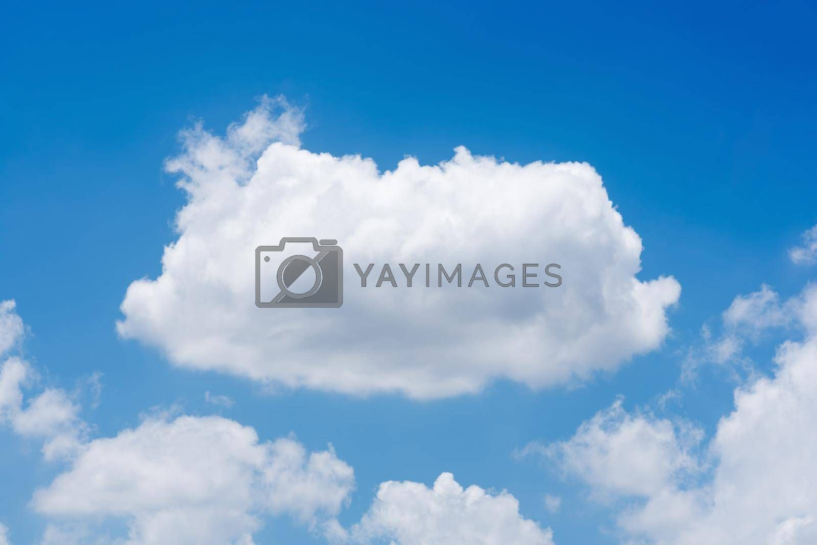 Nature white cloud on blue sky background in daytime, photo of nature cloud for freedom and nature concept.