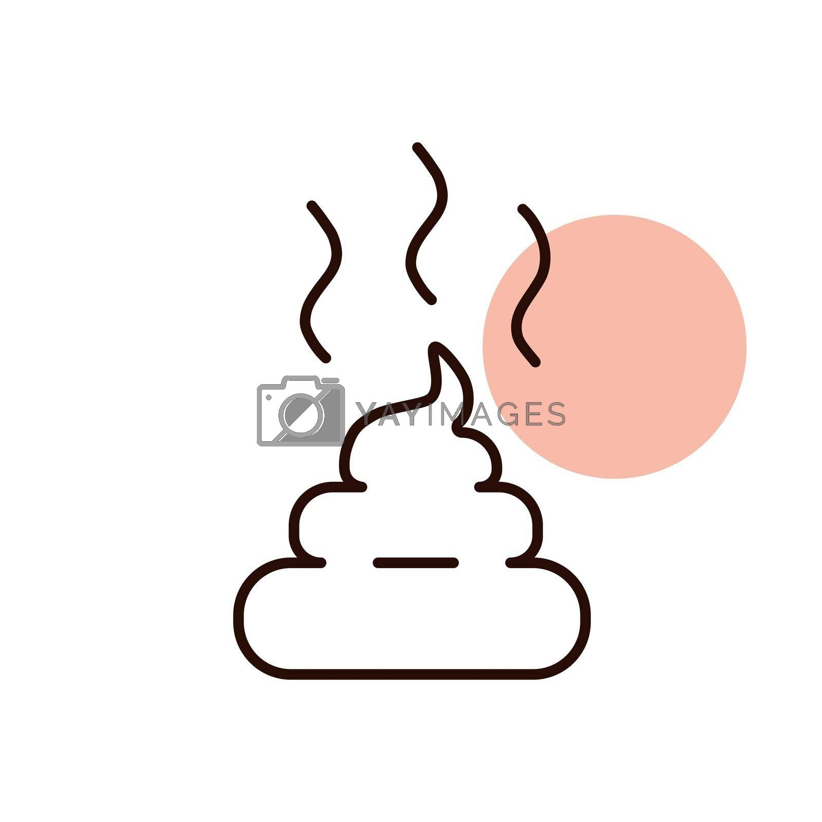 Pile of poo vector icon. Pet animal sign. Graph symbol for pet and veterinary web site and apps design, logo, app, UI