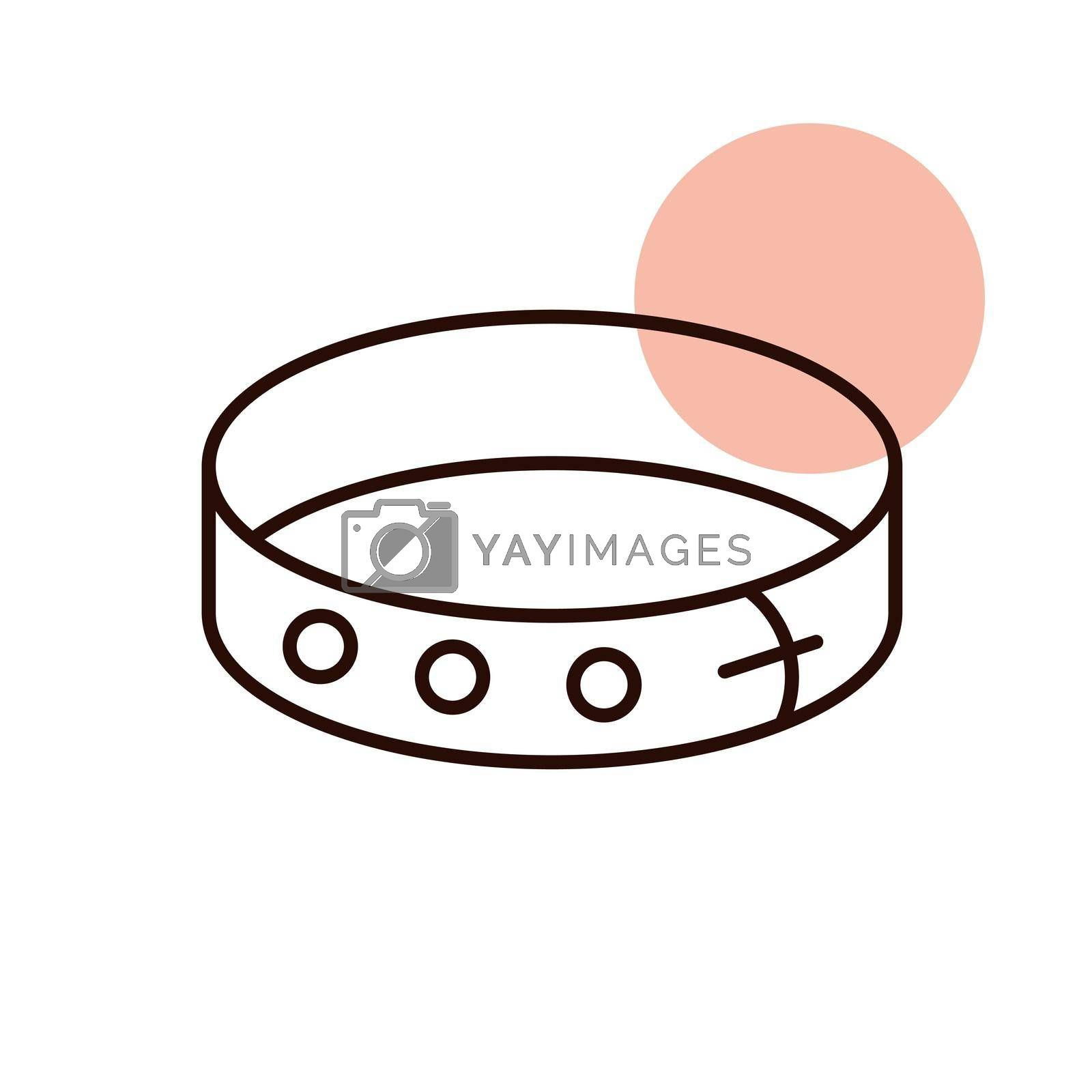 Pet collar vector icon. Pet animal sign. Graph symbol for pet and veterinary web site and apps design, logo, app, UI