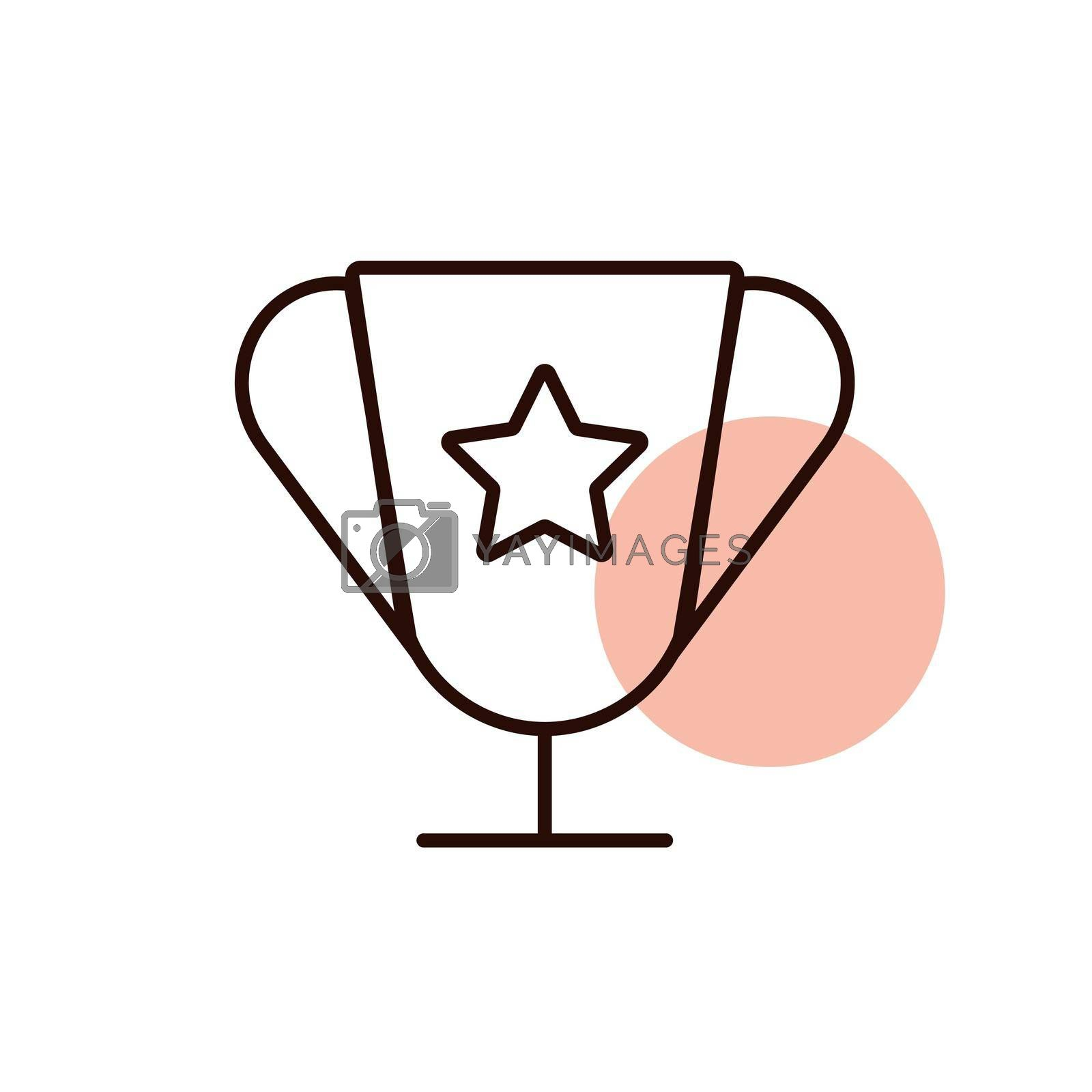 Award vector icon. Pet animal sign. Graph symbol for pet and veterinary web site and apps design, logo, app, UI