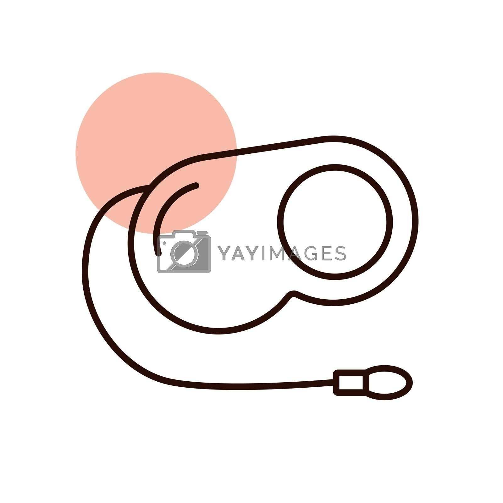 Pet lead vector icon. Pet animal sign. Graph symbol for pet and veterinary web site and apps design, logo, app, UI