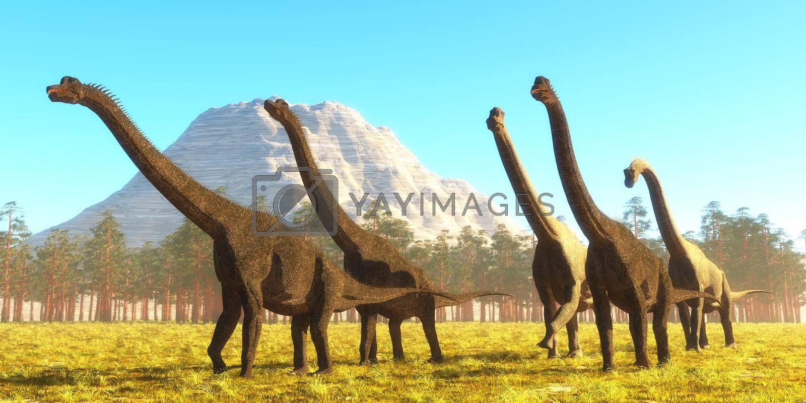 Brachiosaurus was a tall herbivorous sauropod that lived during the Jurassic Period of North America.