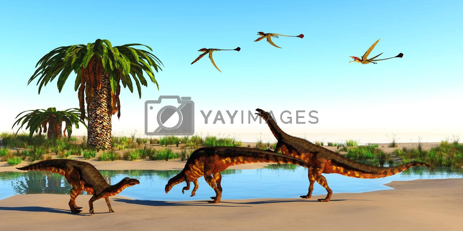 Royalty free image of Plateosaurus Dinosaur Beach by Catmando