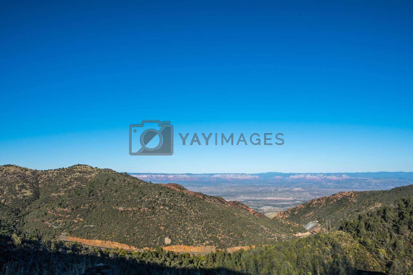 Epic mountain landscape scenery while traversing throughout the mountain roads