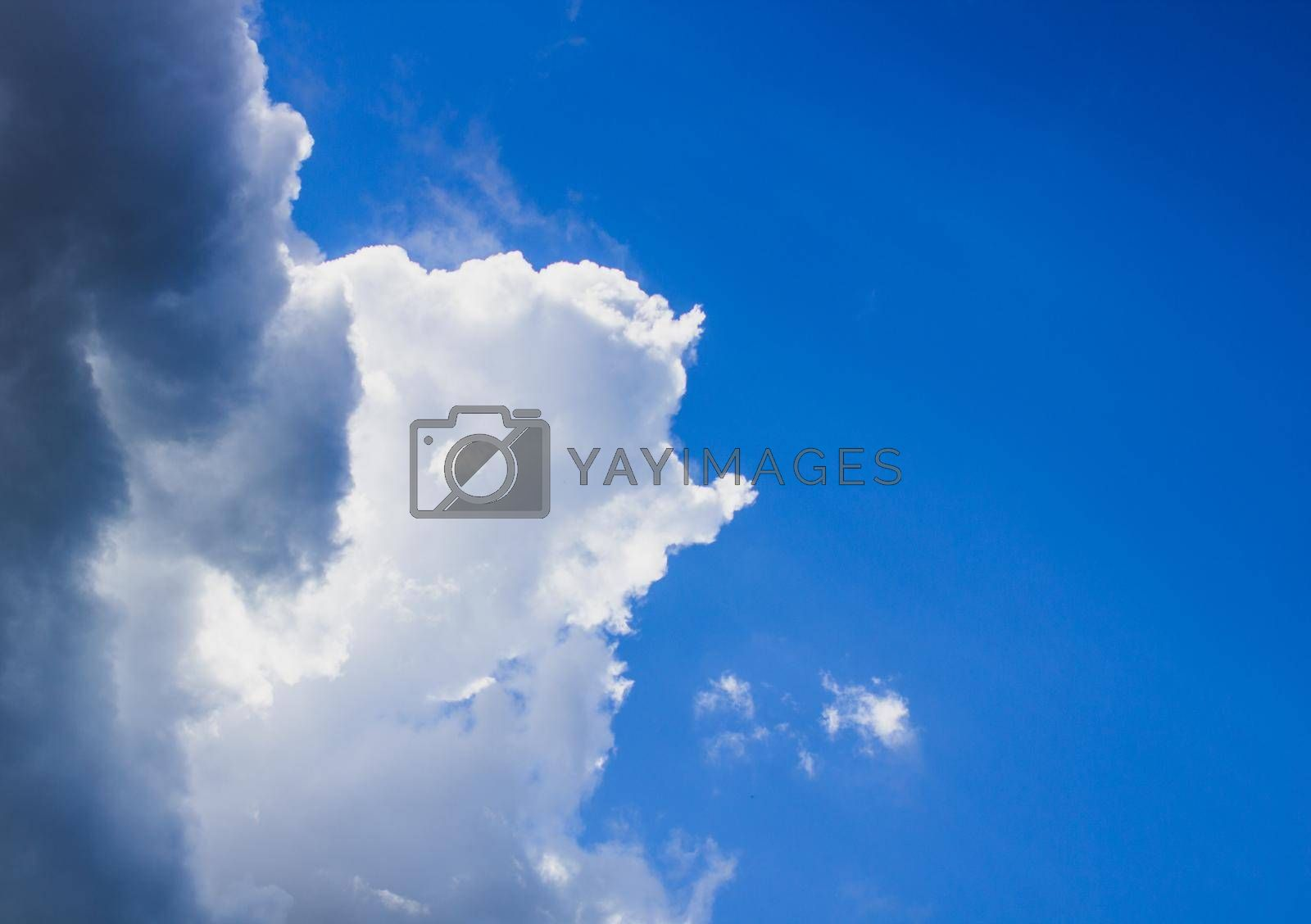 Blue sky clouds background. Beautiful landscape with clouds on sky.