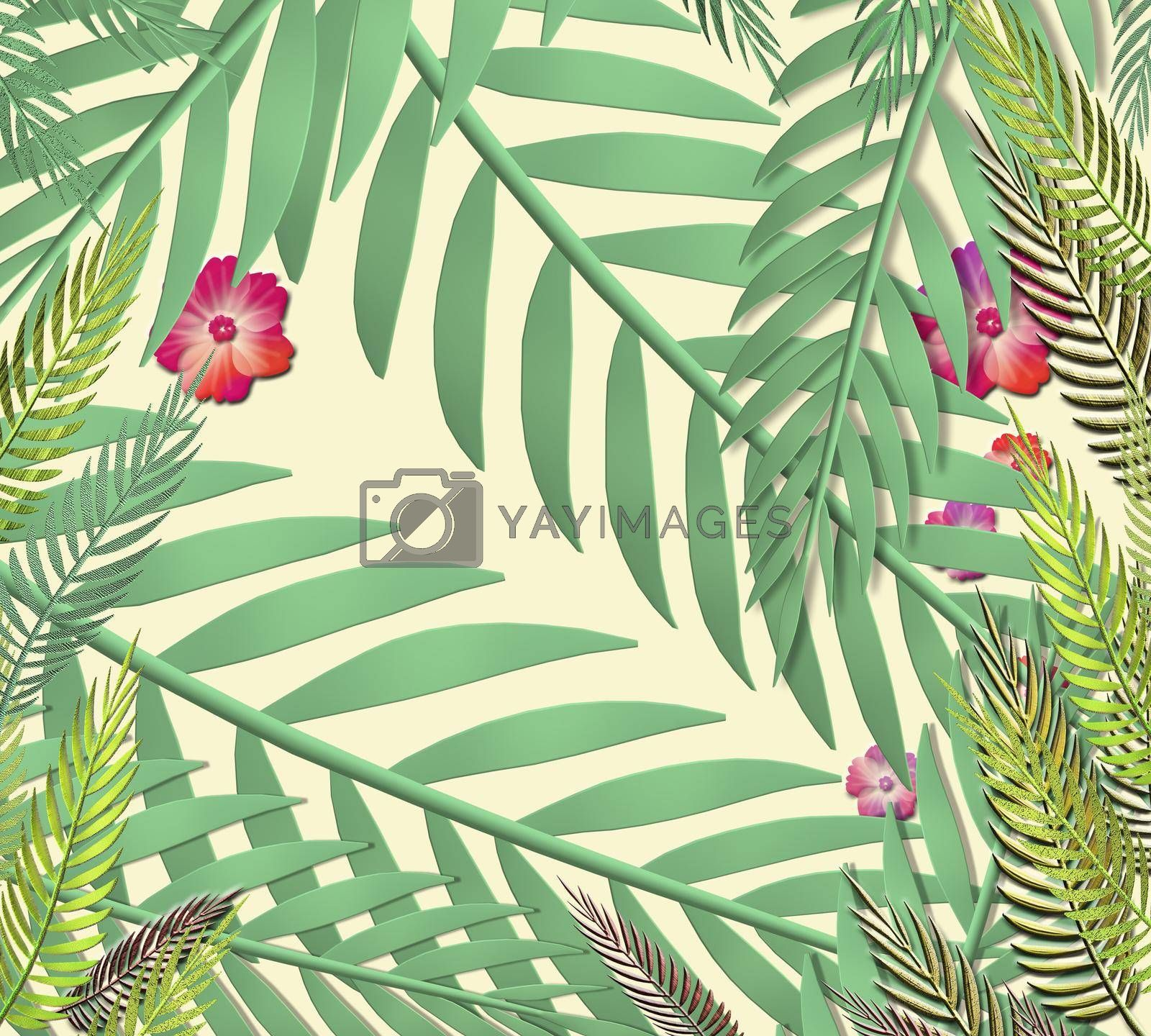 Royalty free image of Exotic jungle plants by NelliPolk