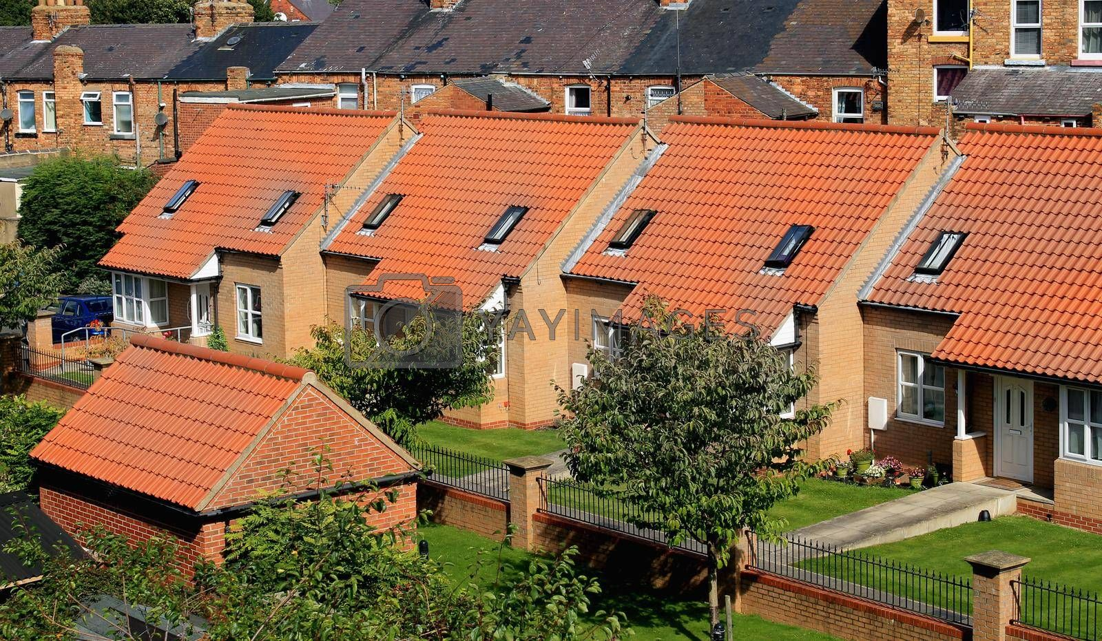Royalty free image of Row of town houses by speedfighter