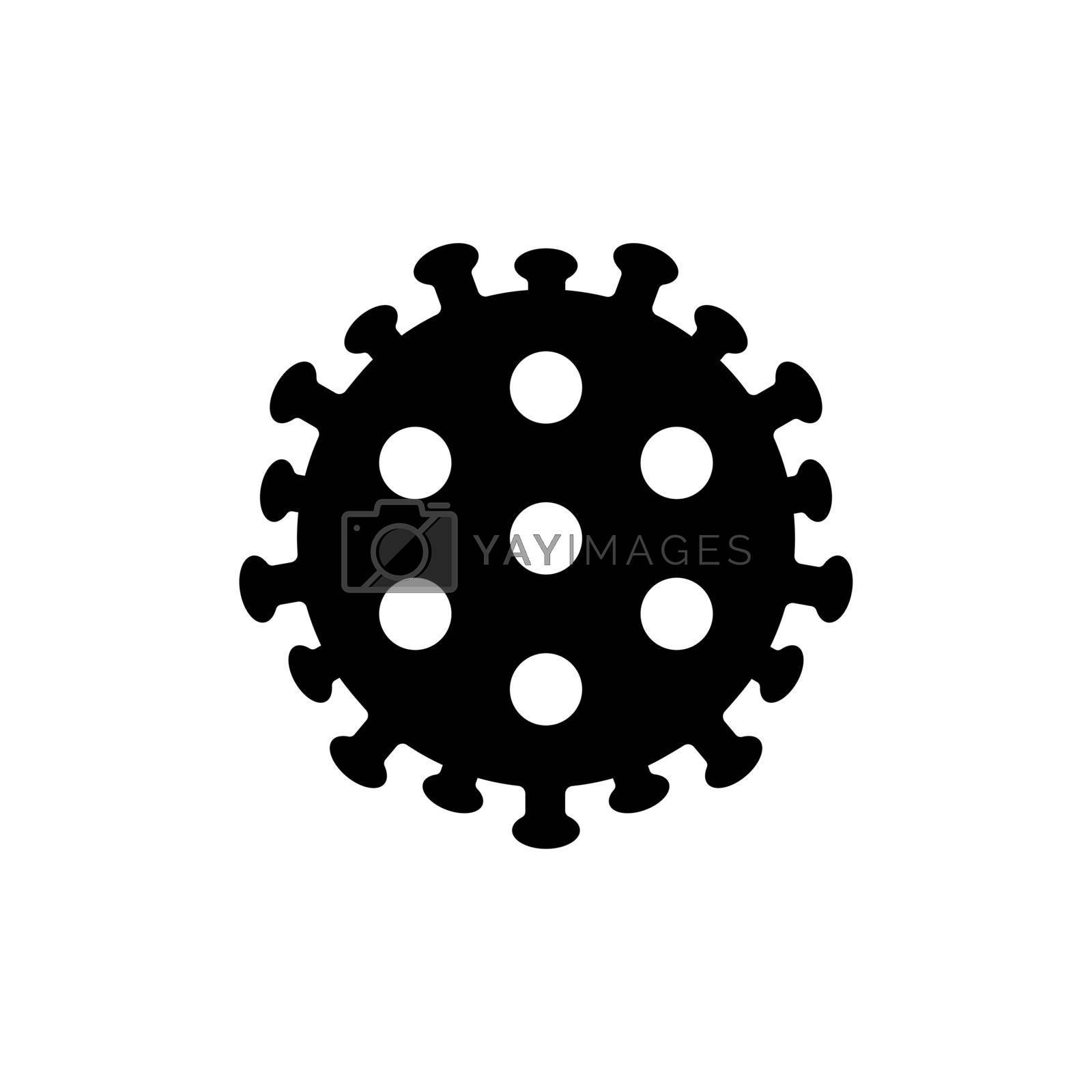 Coronavirus Bacteria 2019-nCoV vector glyph icon. Medicine sign. Graph symbol for medical web site and apps design, logo, app, UI
