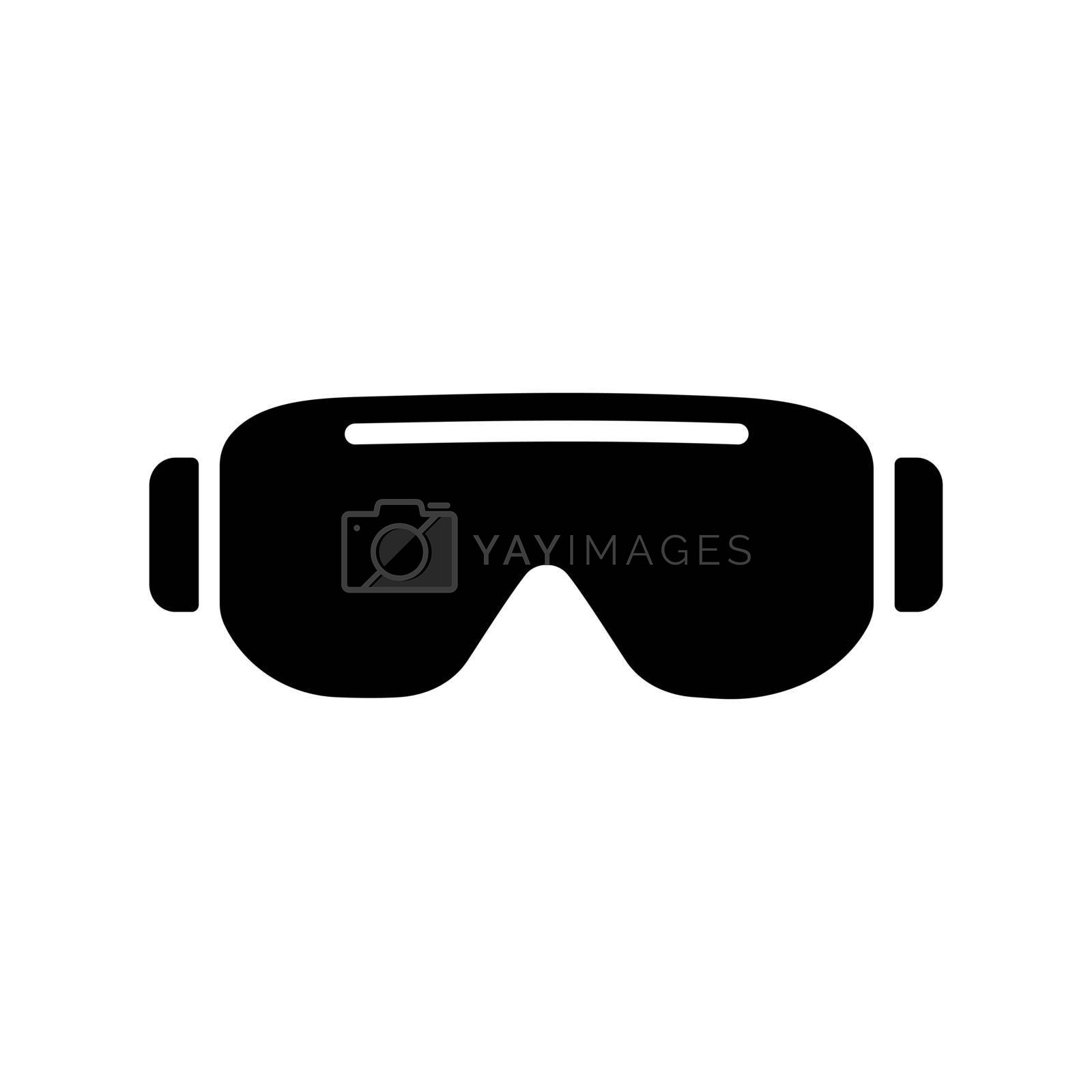 Biology goggles Eye protection vector glyph icon. Scientific Lab glasses. Medicine sign. Graph symbol for medical web site and apps design, logo, app, UI